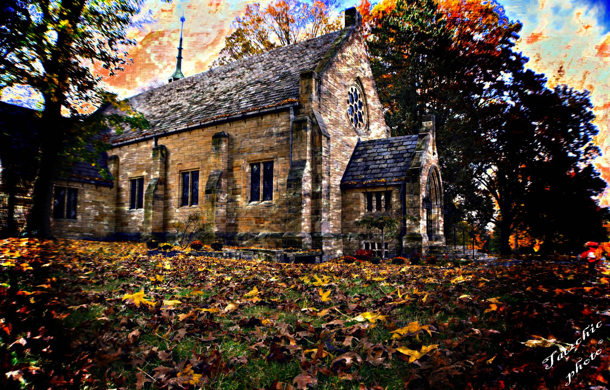Chapel in Fall by candy.holenchick