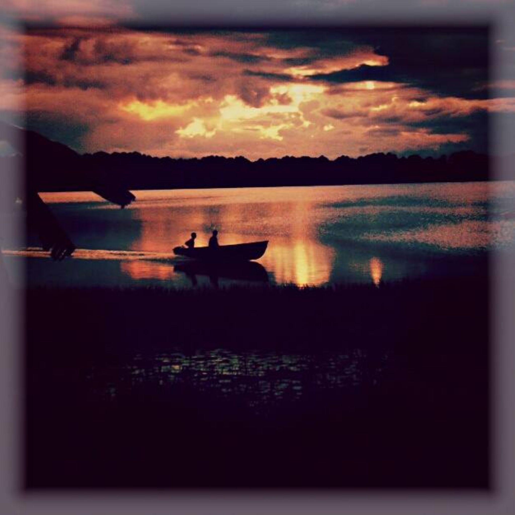 boating at night by Chelsey Elizabeth