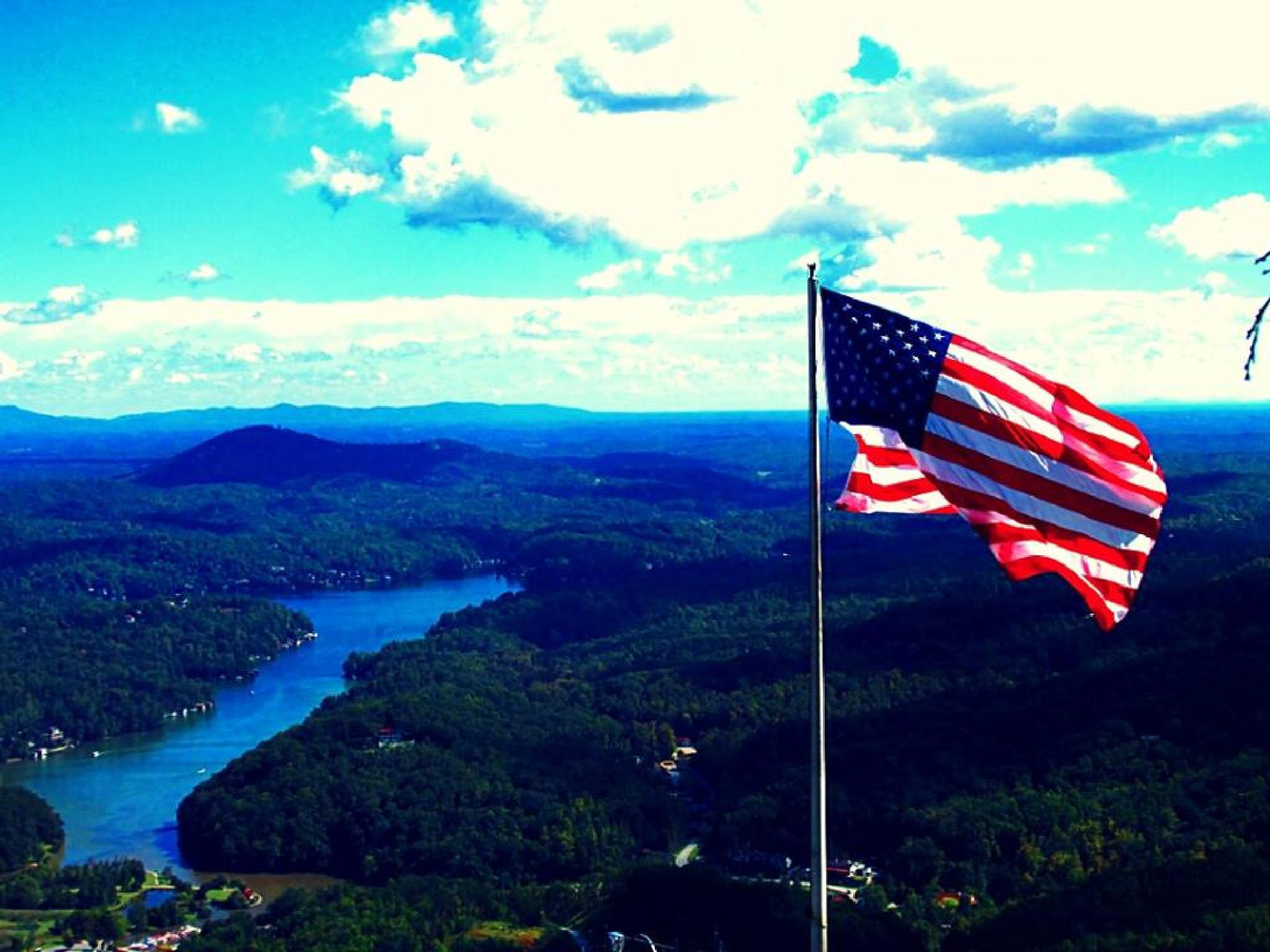 The flag, flying. by Chelsey Elizabeth