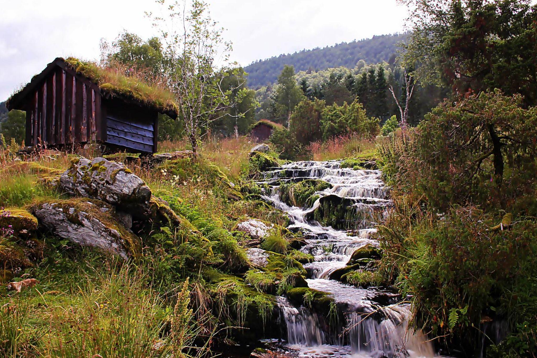 Waterfall in the Spring by vidar.totland