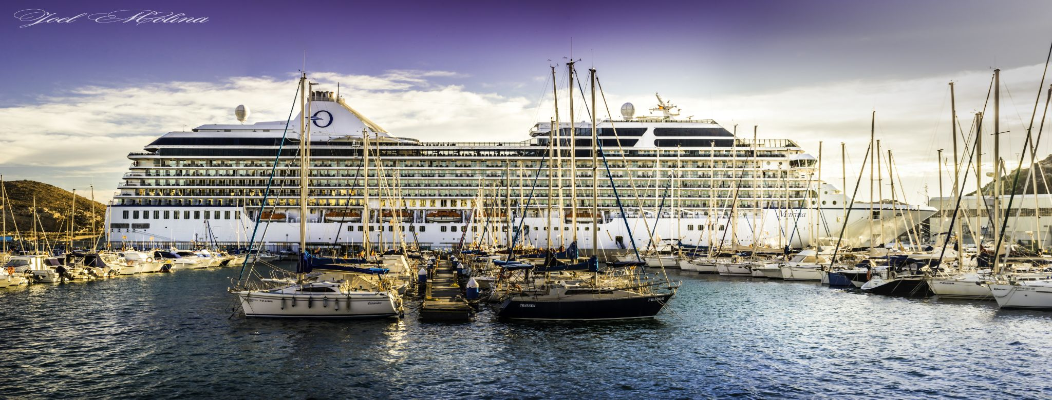Ship in Cartagena by joelmolinaphotography