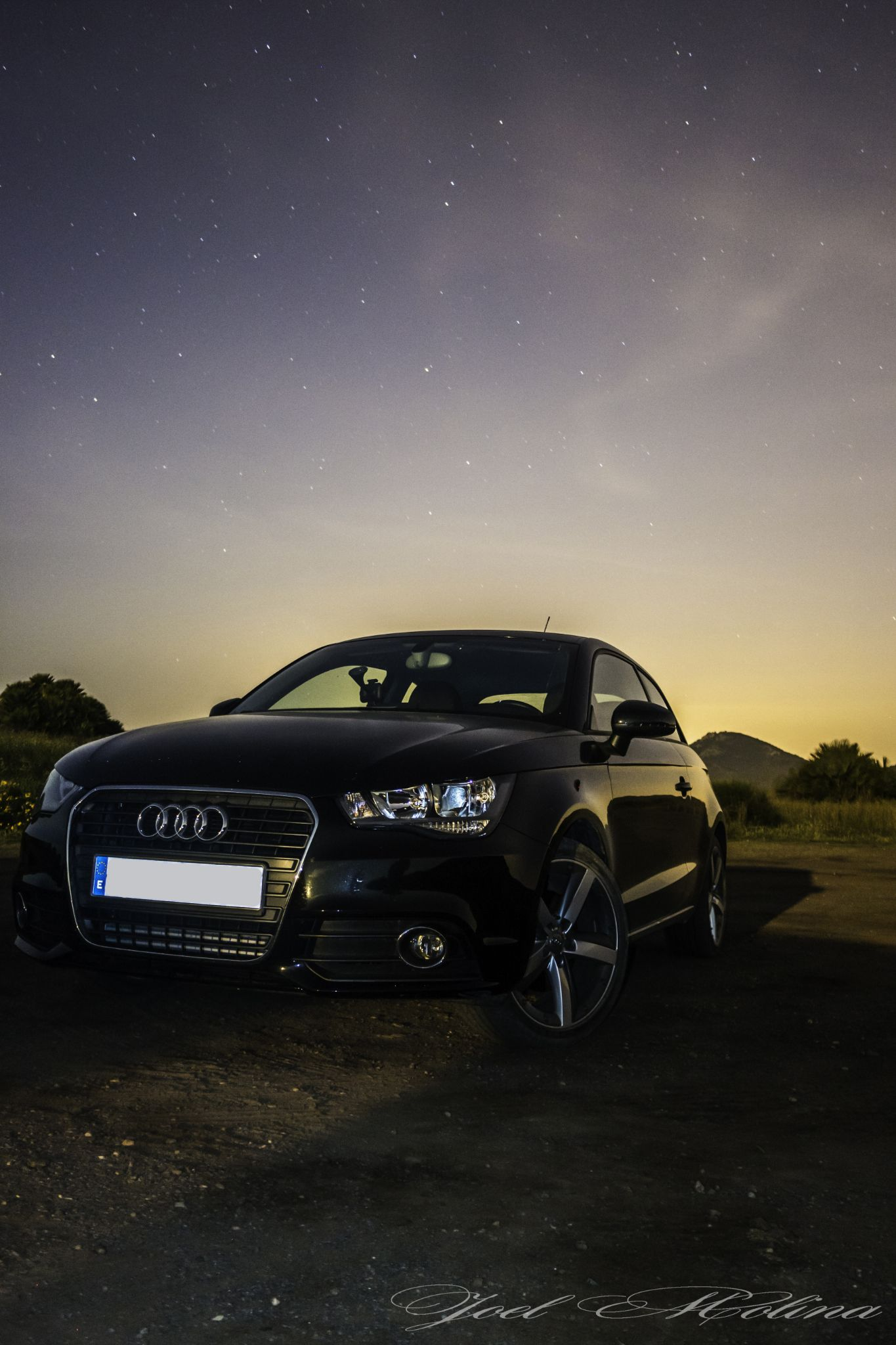 Audi A1 in the night by joelmolinaphotography