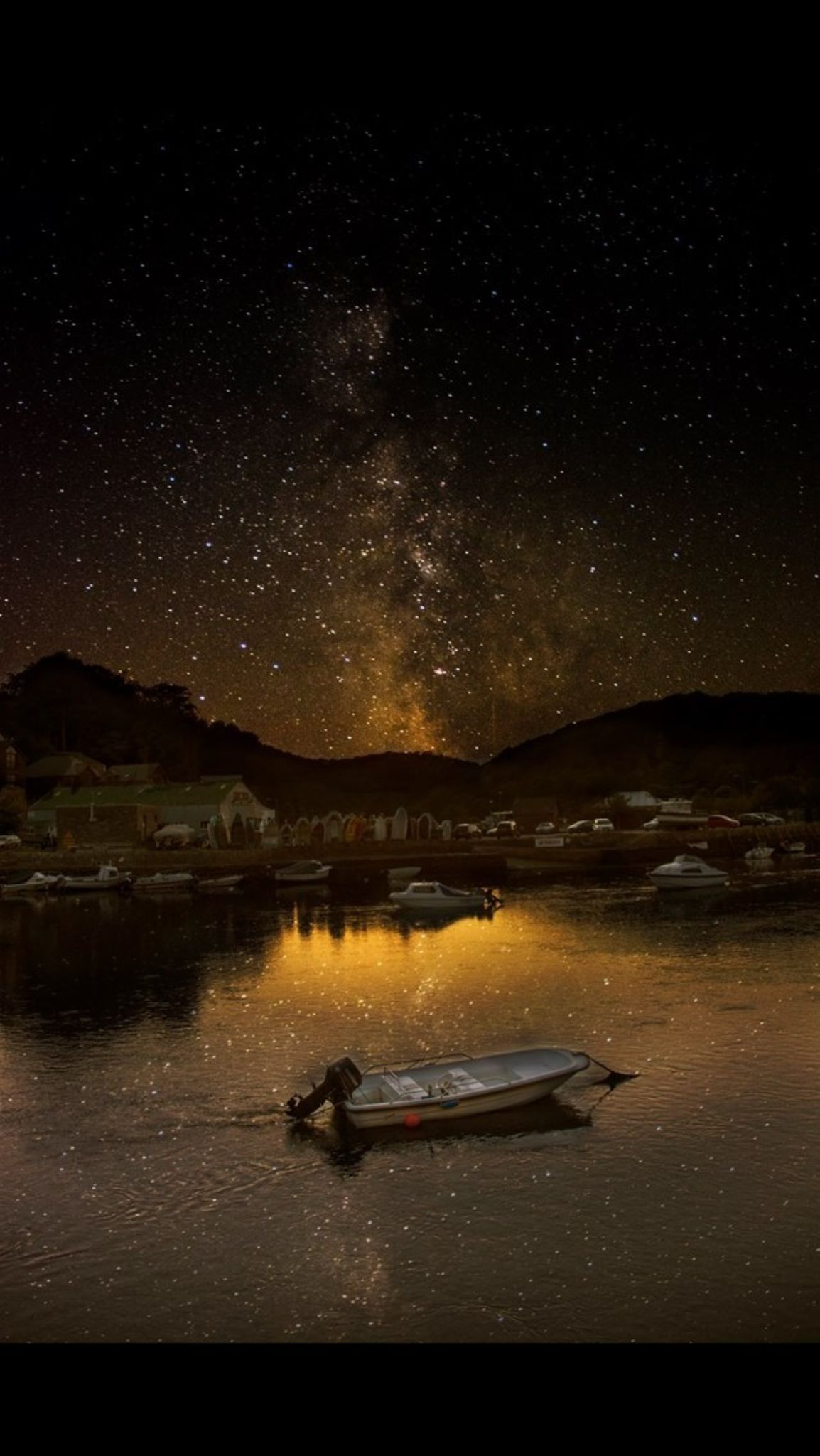 Milky Way over Looe Harbour, Cornwall by Andy Tipping Photography