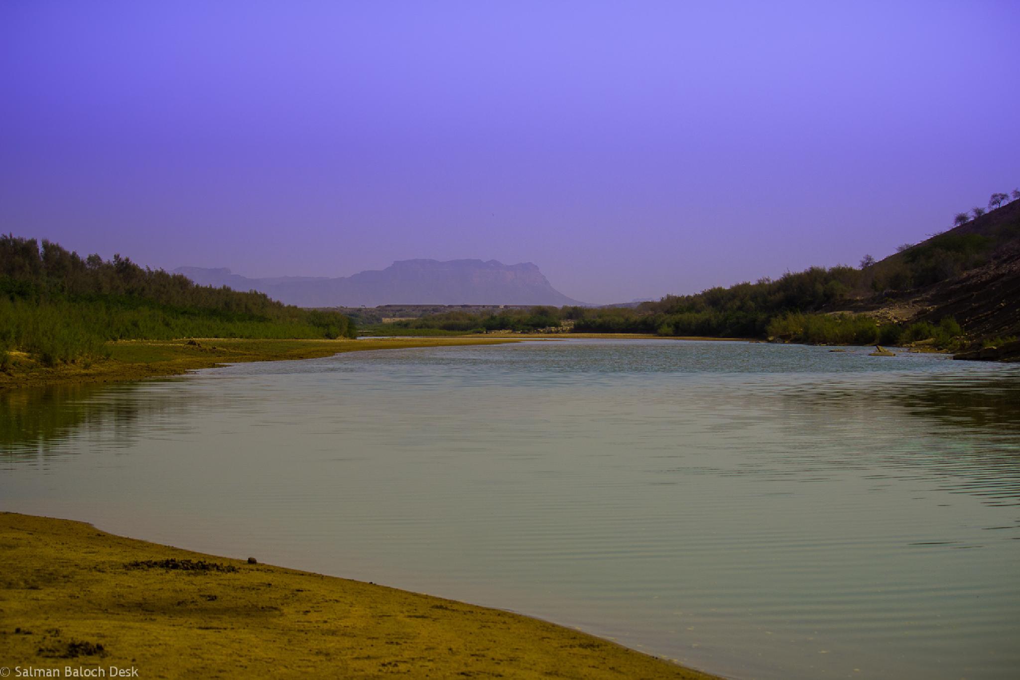 Hub River by Salman Baloch