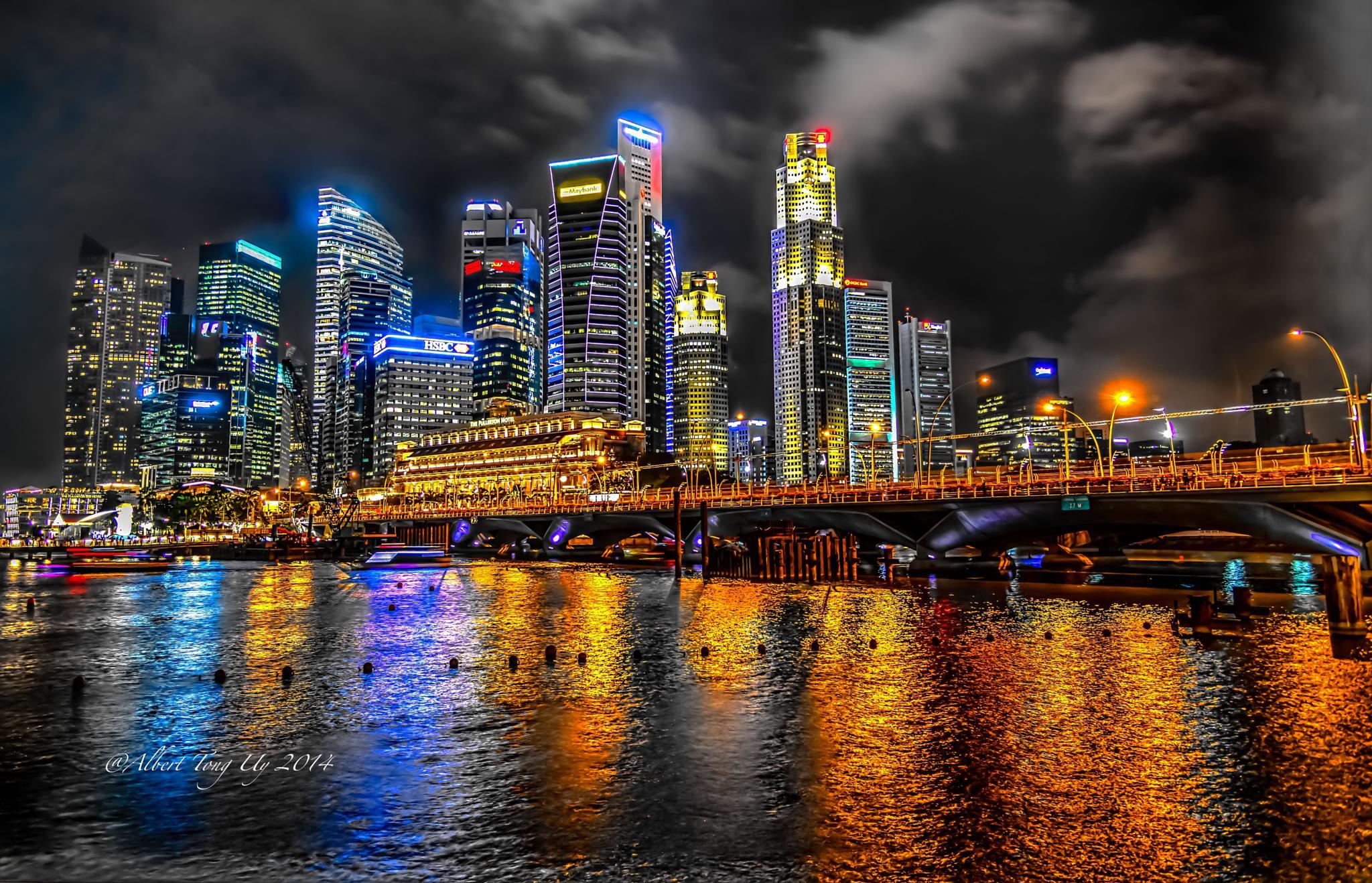 Structures Around Marina Bay Sands at Night, Singapore, photo 33 by iatu8888