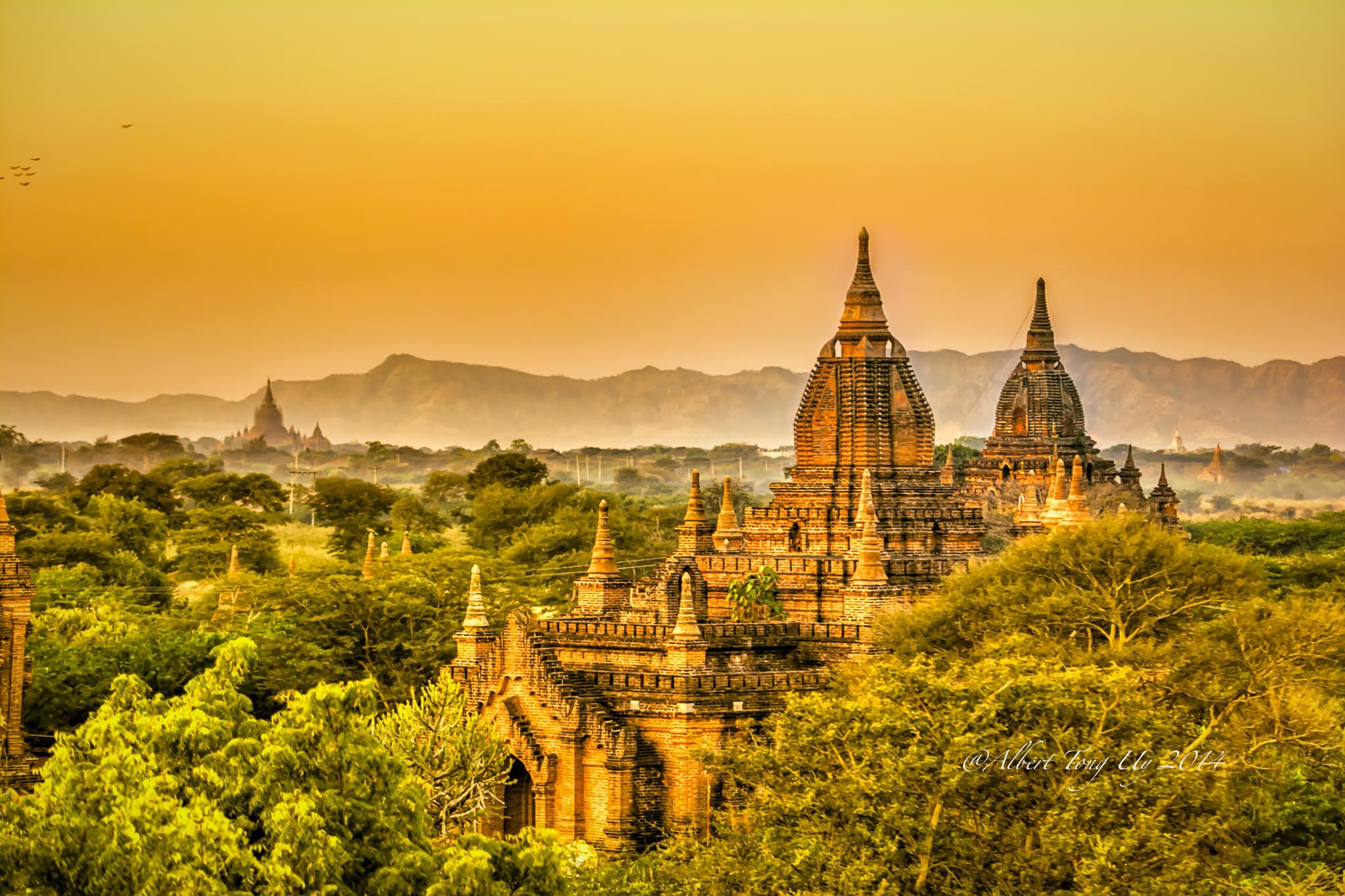 Sunrise at the Temple of Bagan, Myanmar,  photo 79 by iatu8888