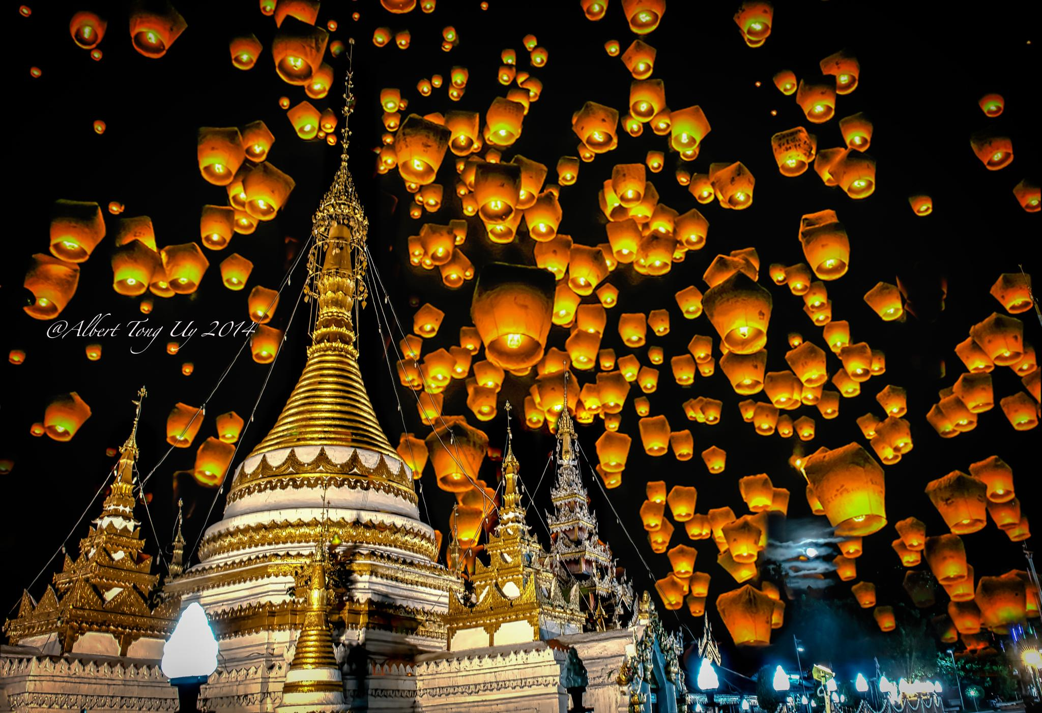 Temple in North Thailand..during the Lantern Festival..photo 13 by iatu8888