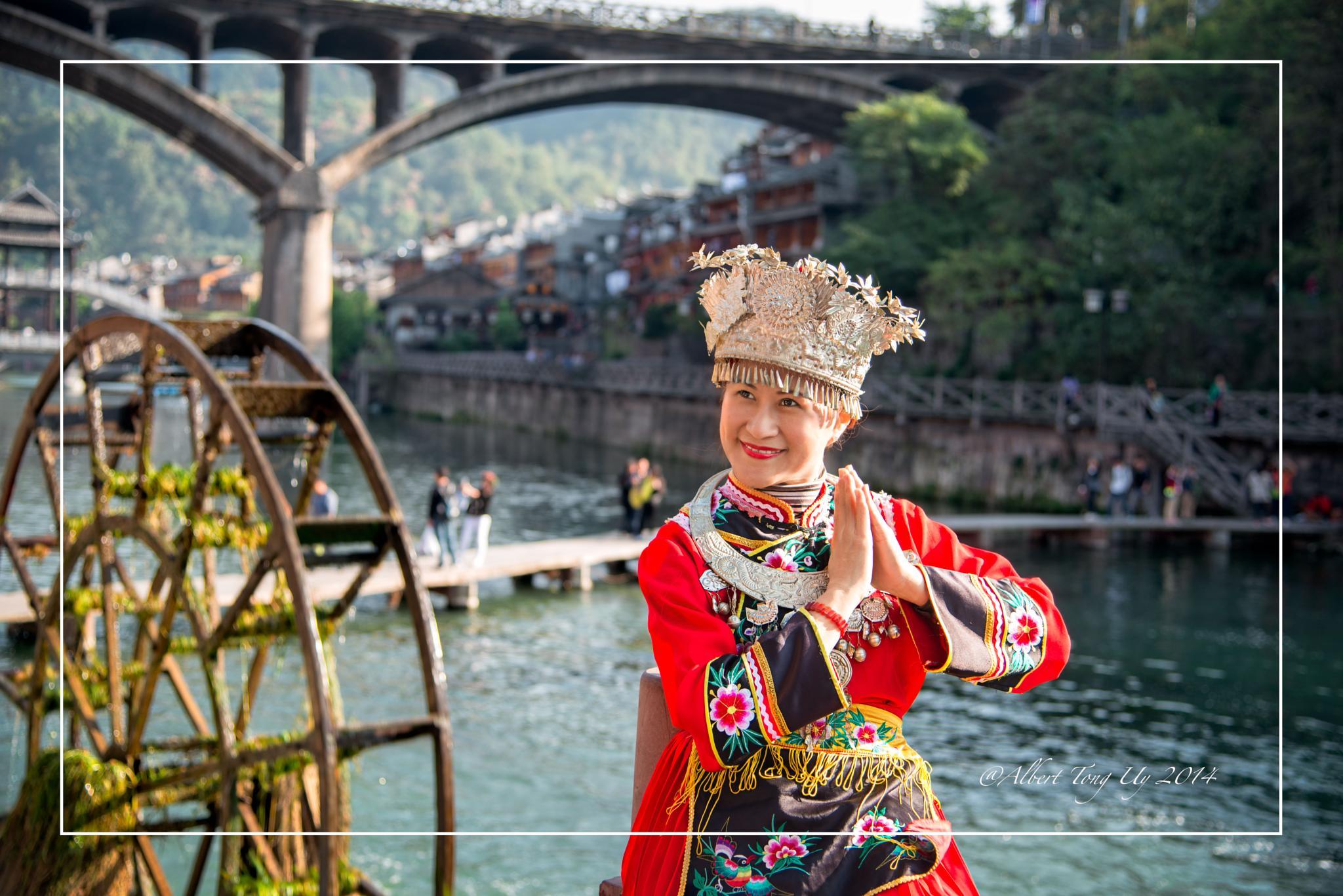 My Wife My Model in Phoenix Old Town, Hunan, China photo 11 by iatu8888