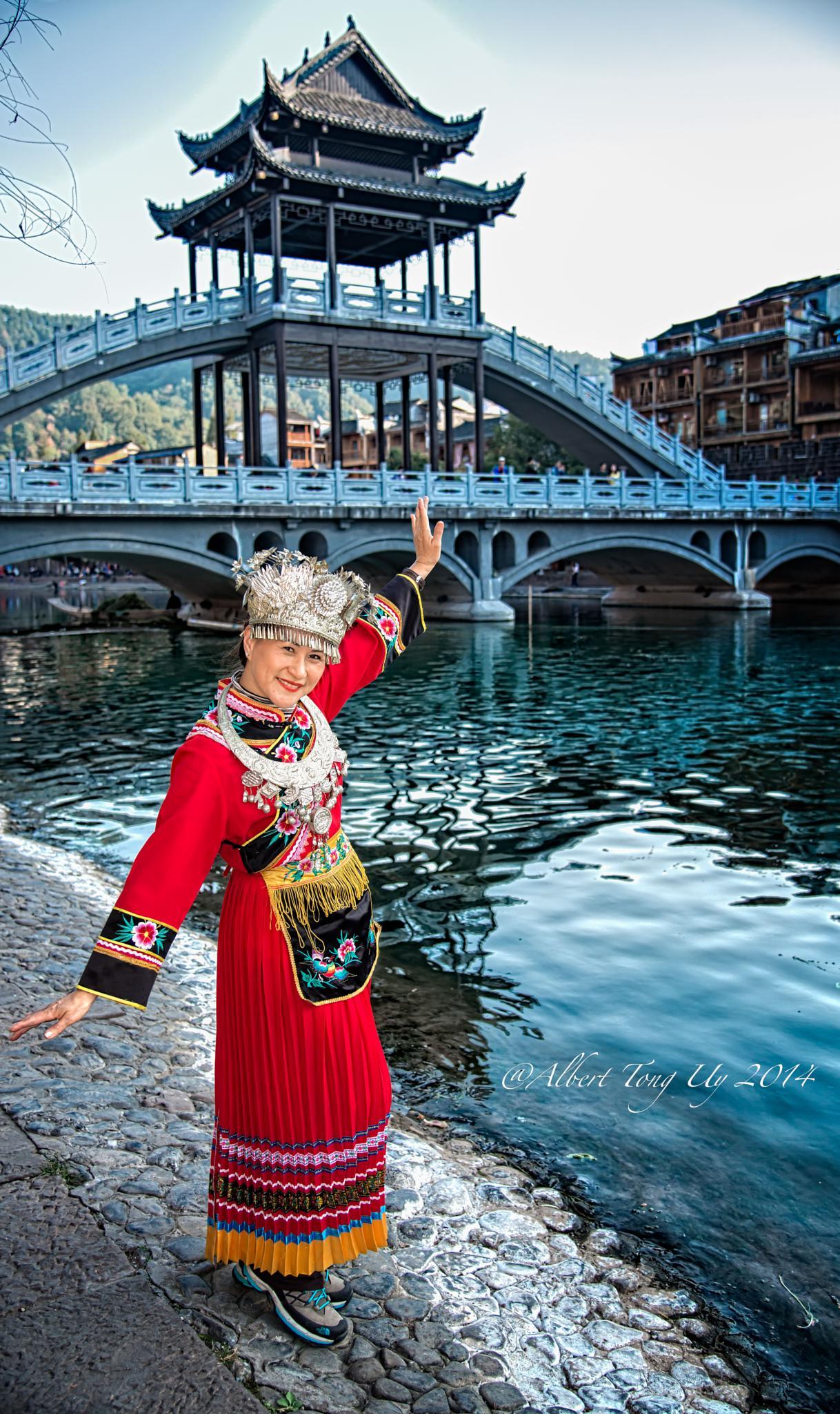 My Wife My Model, in Phoenix Old Town, Hunan, China,  photo 14 by iatu8888