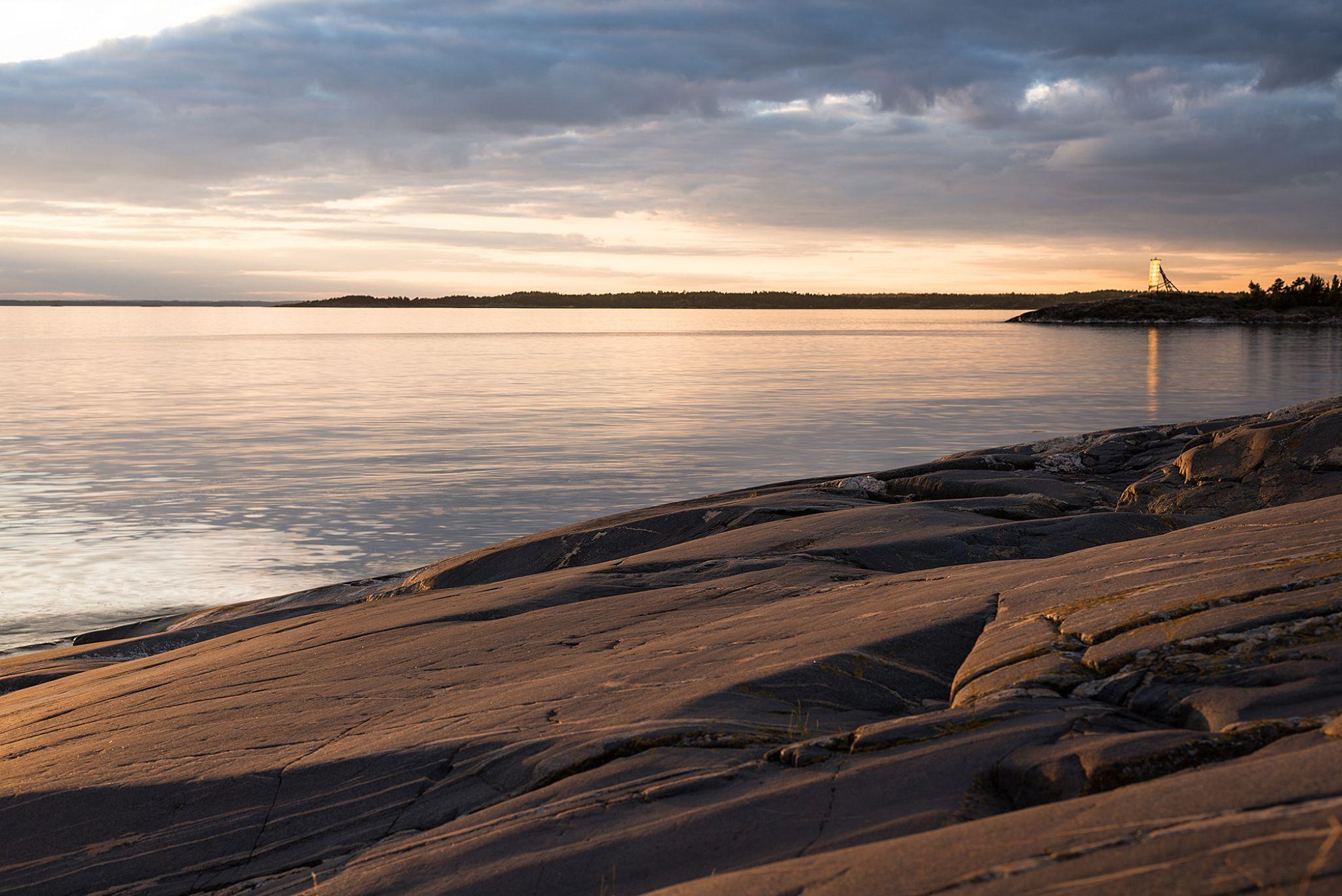 Sunset at Porkkala cape. by Soili Stenroos