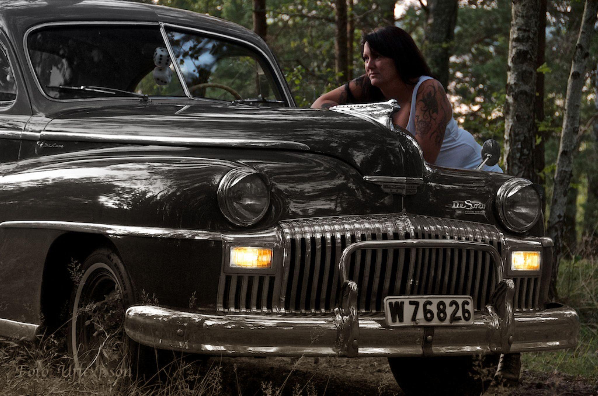 Sandra and a DeSoto -48 by uffejsson