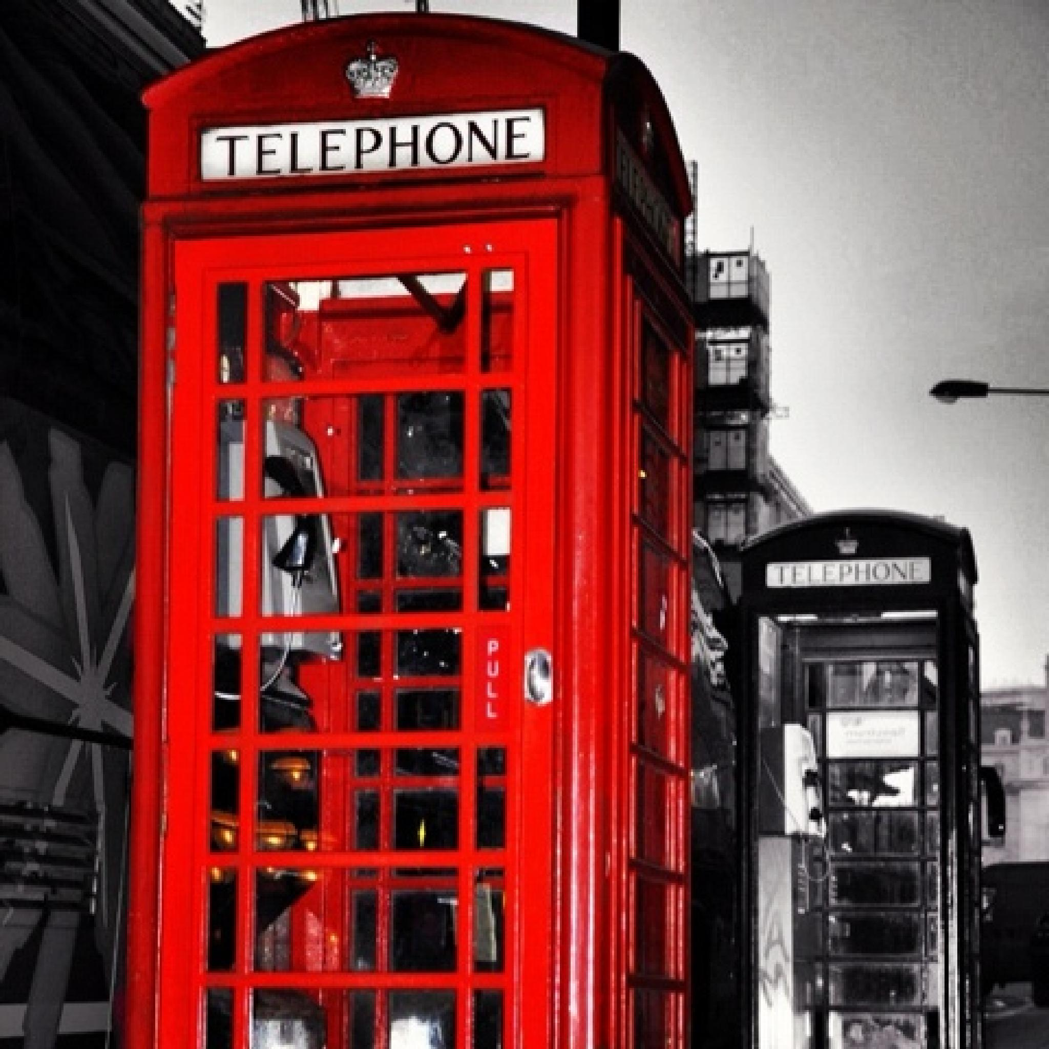Photo in Street Photography #black&white #b/w #london #telephonebox #redbox #icon #street photography #color splash