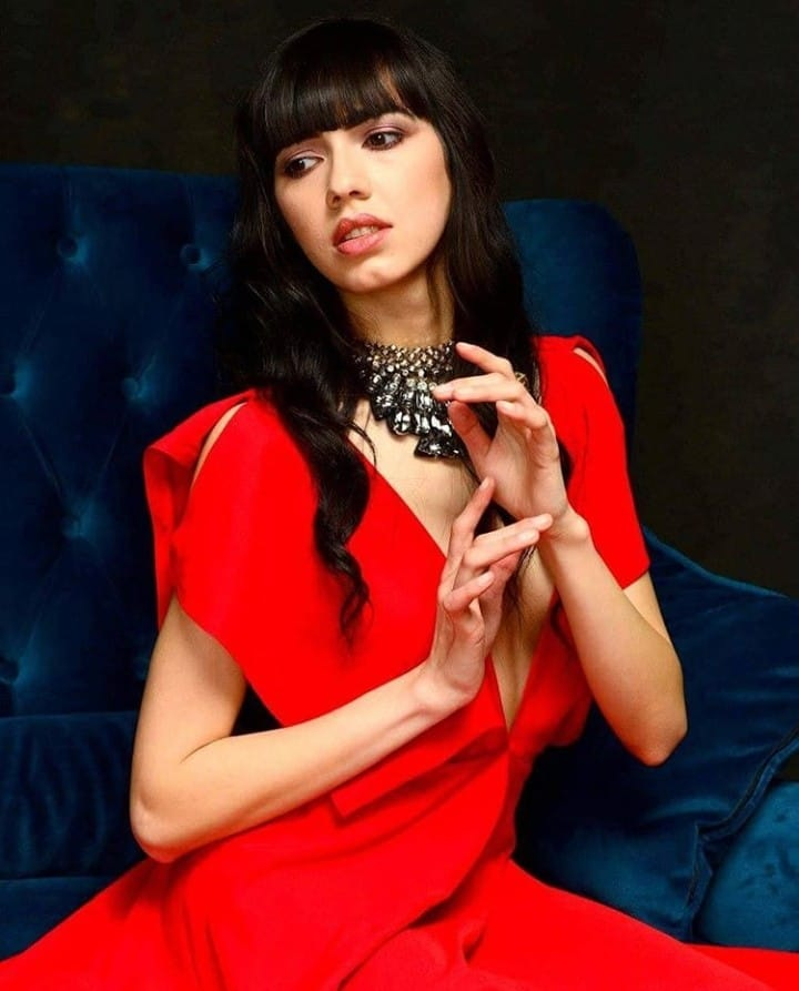 That red dress  by Farida Groennesby