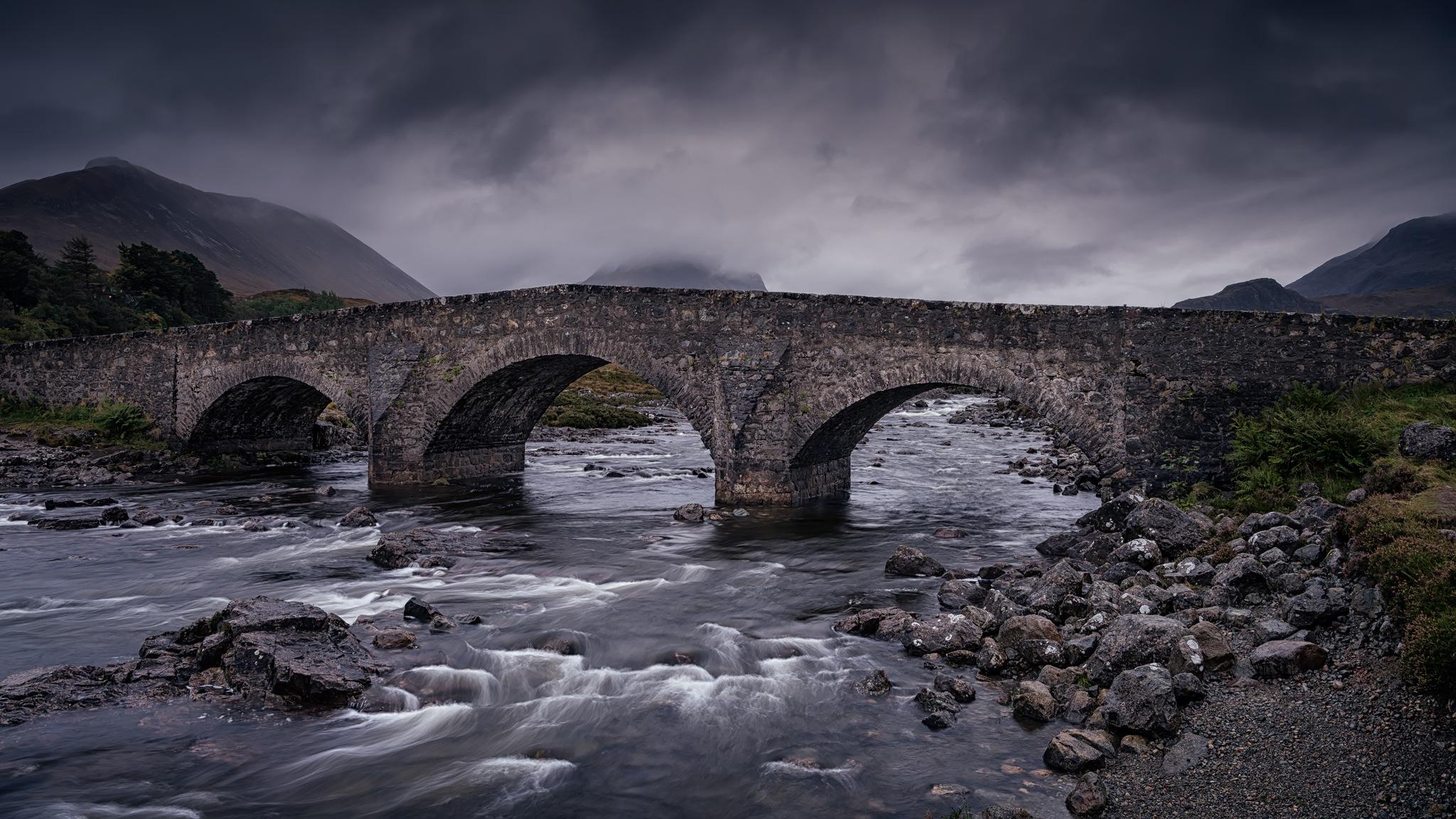 Old Bridge At Sligachan by Gabor Nagy