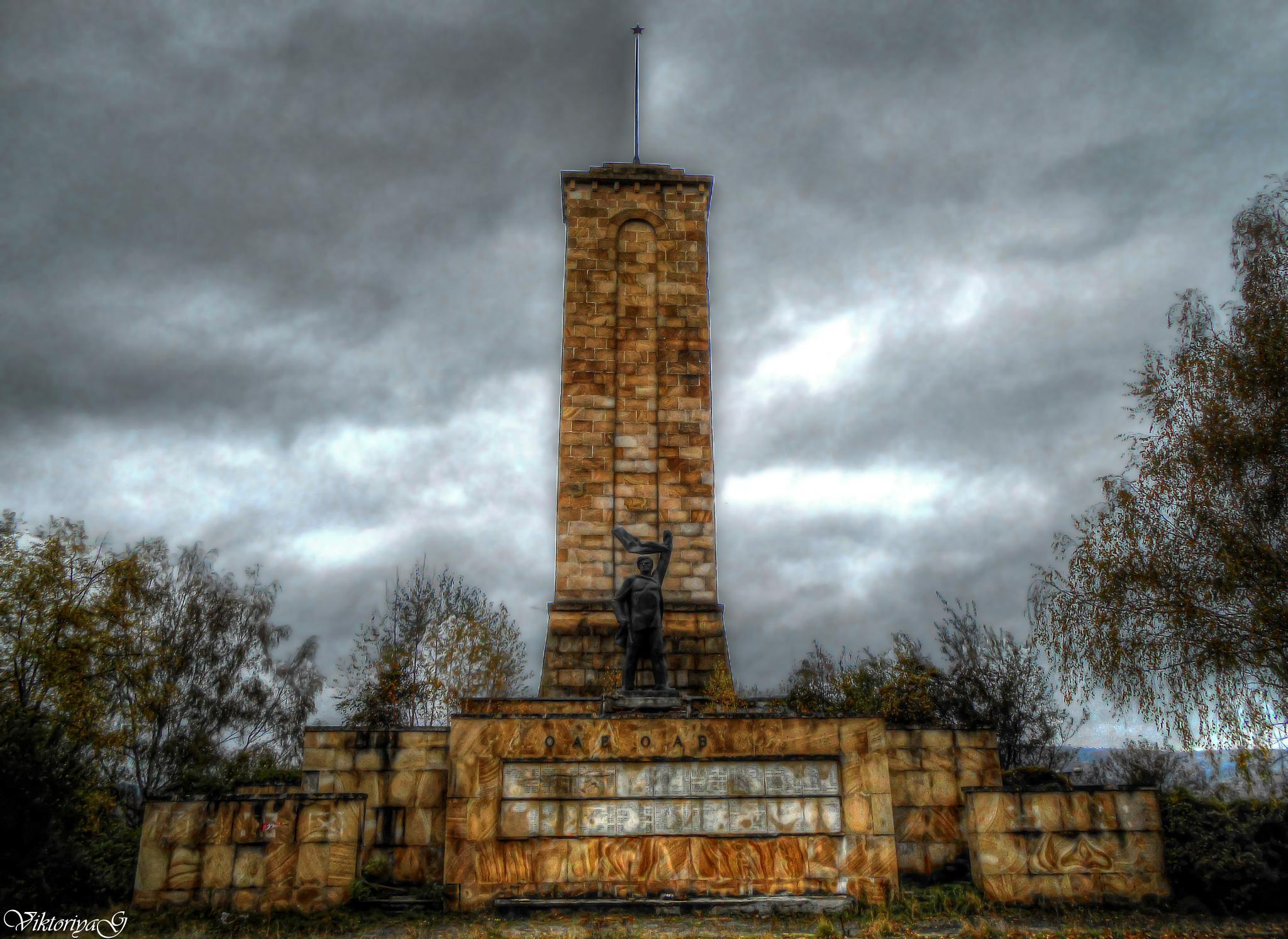 Memorial ossuary of partisans near. Slishovtsi by Viktoriya Georgieva