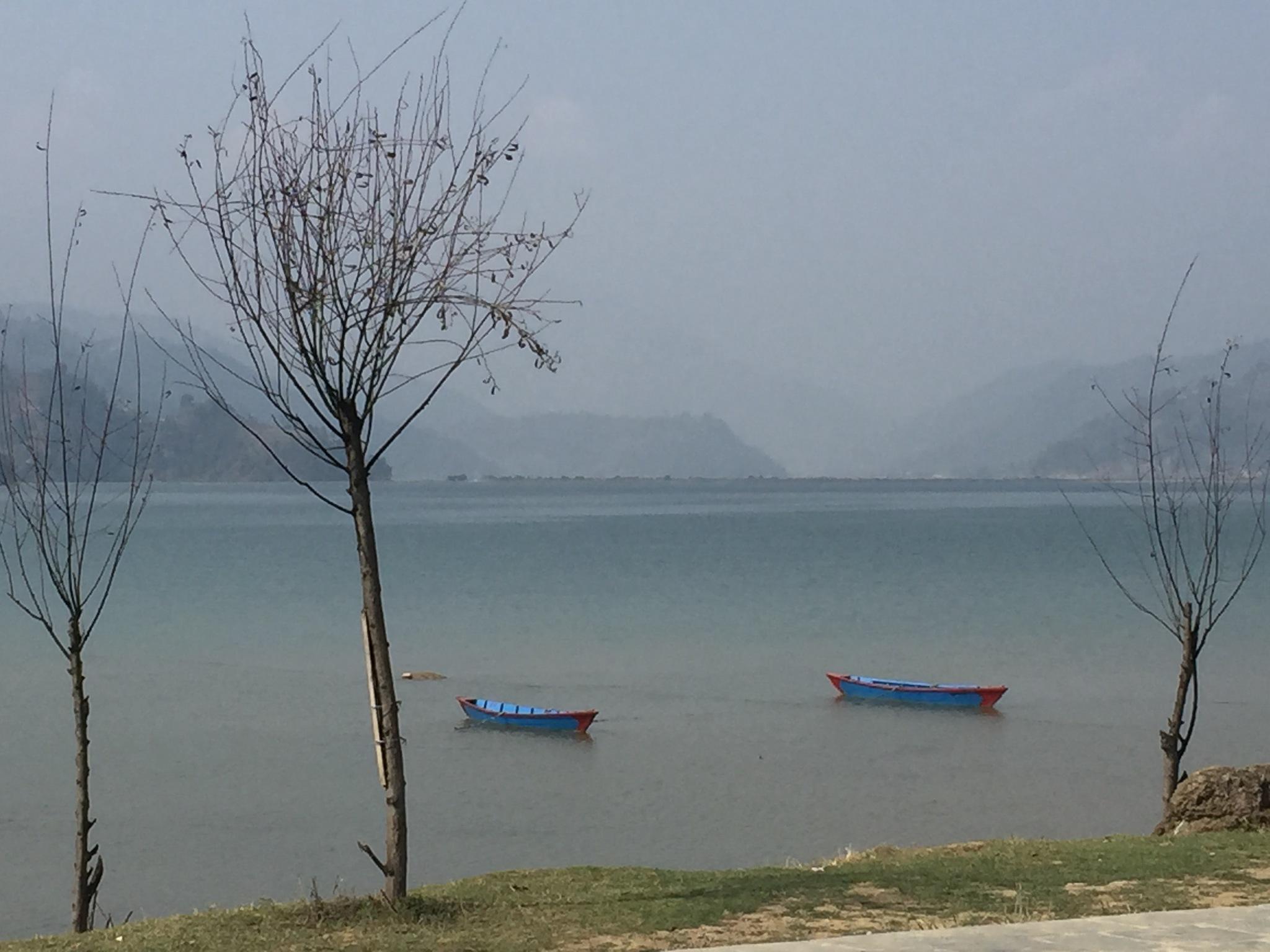 fewa lake, pokhara by Saroj Bhatta