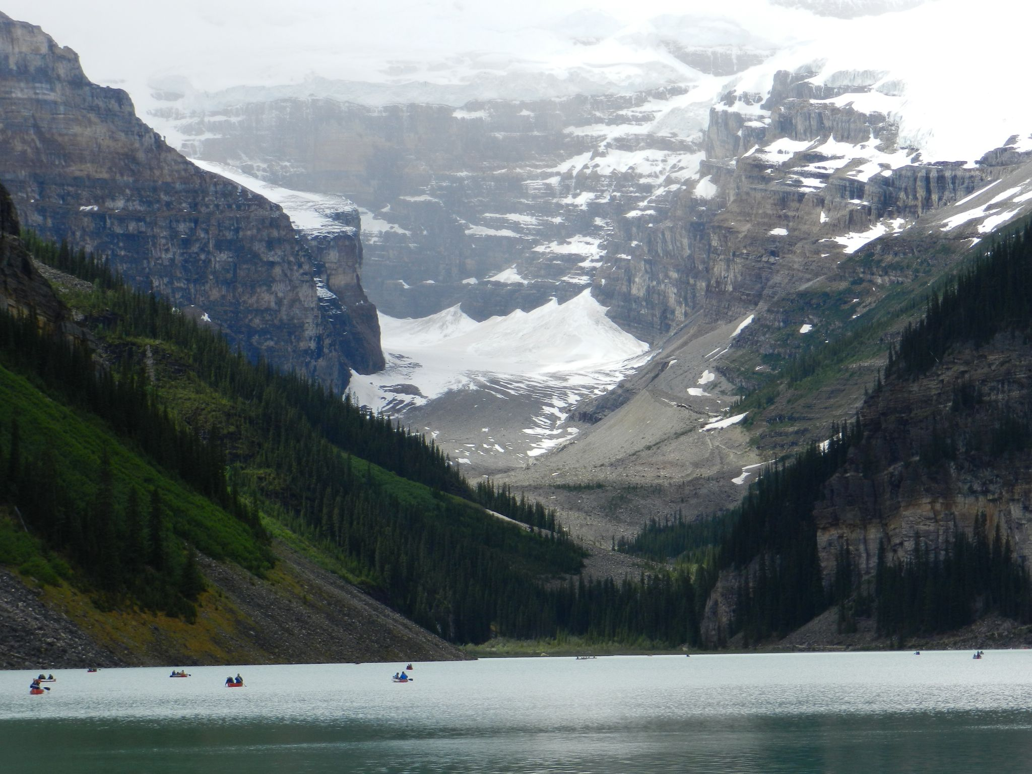 Boating at Lake Louise by Annette McCann