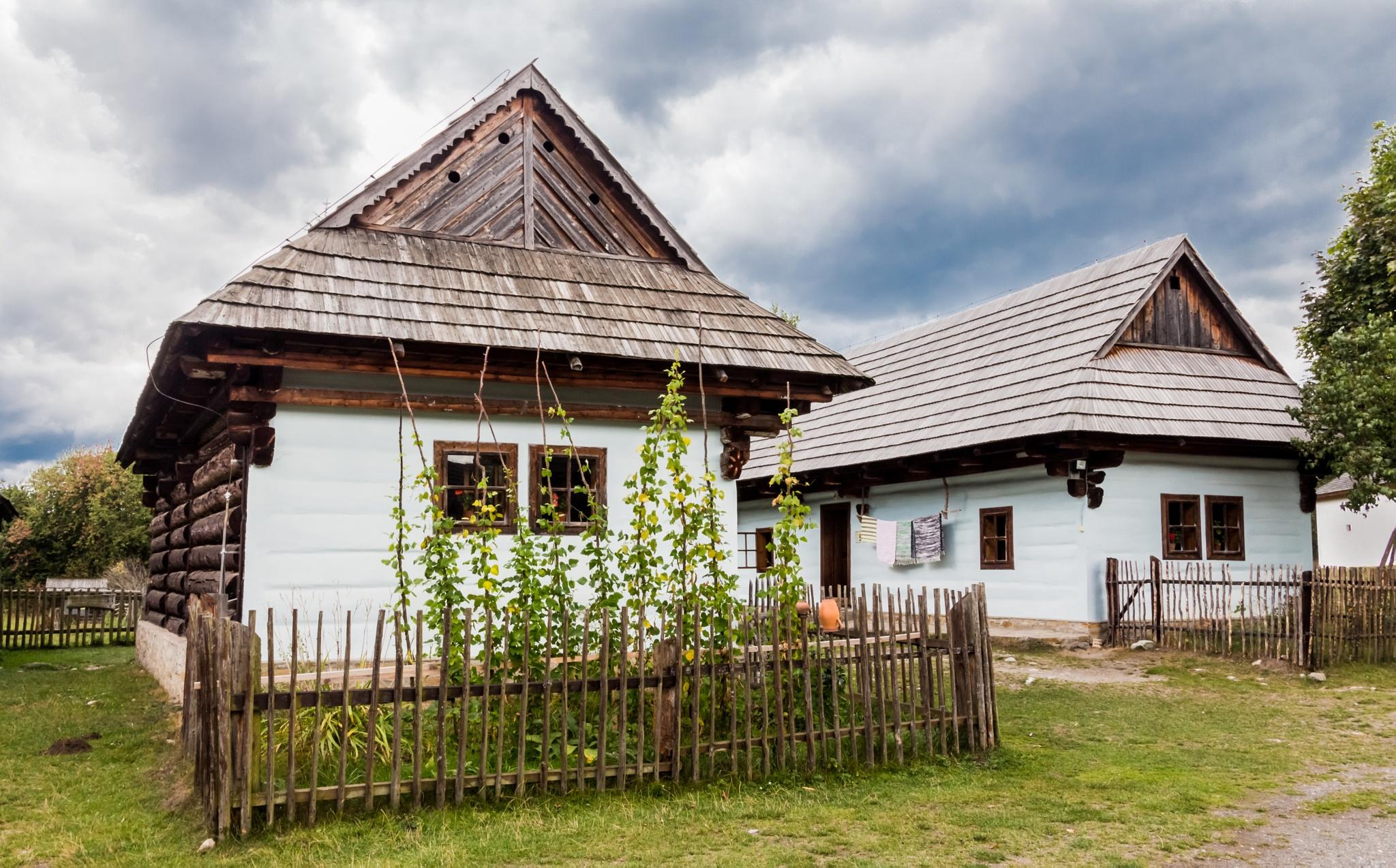 Wooden houses Liptov by Laco Hubaty