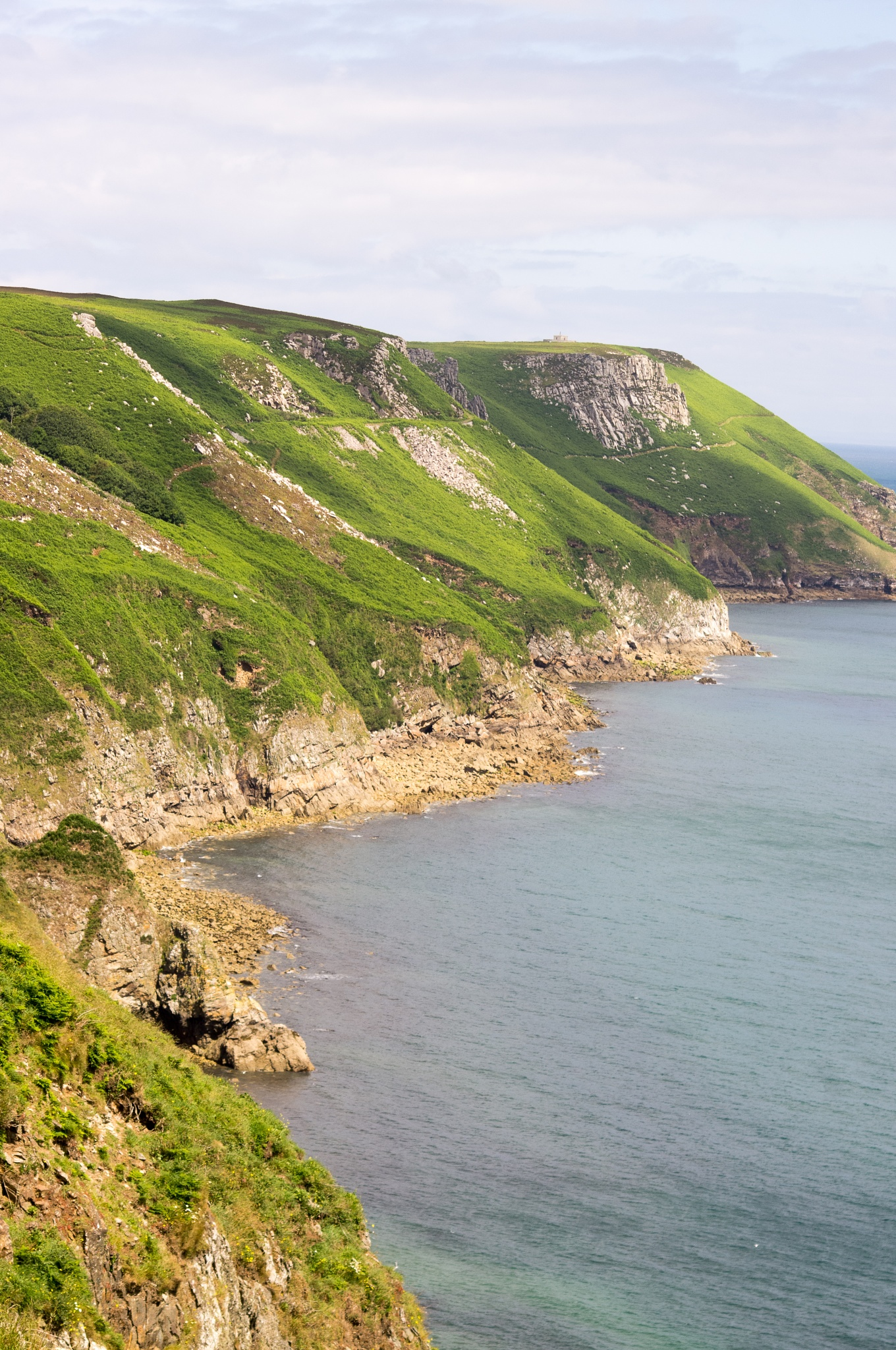 Lundy east coast cliffs by tom salt