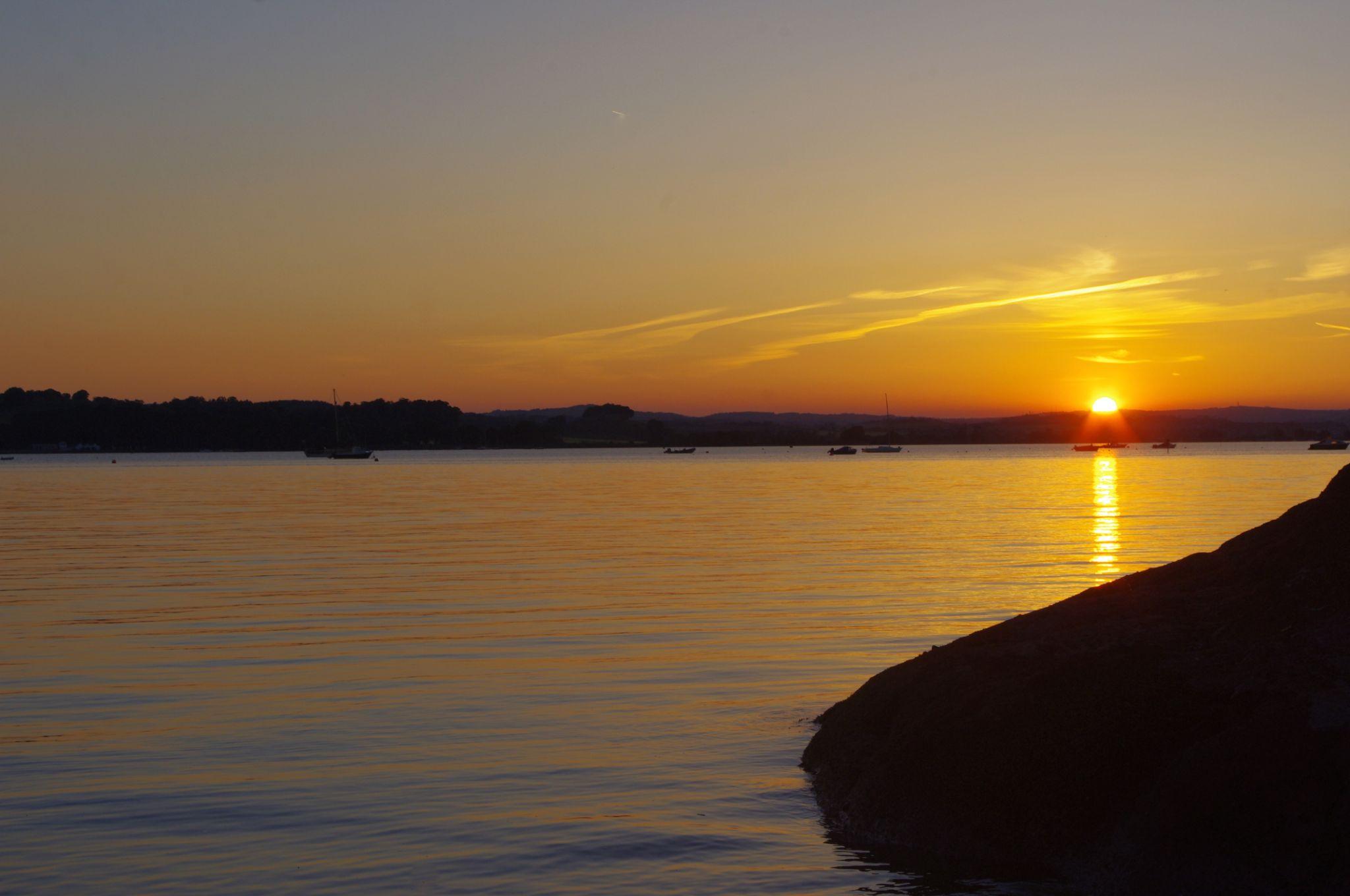 Sun set by tom salt