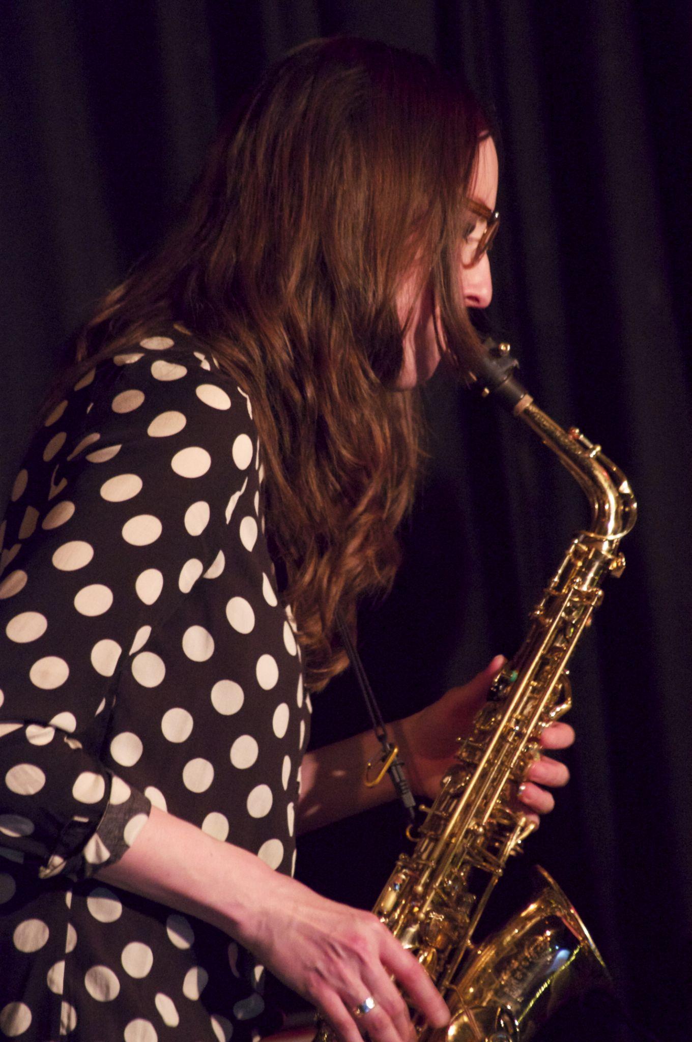 saxophonist  by tom salt