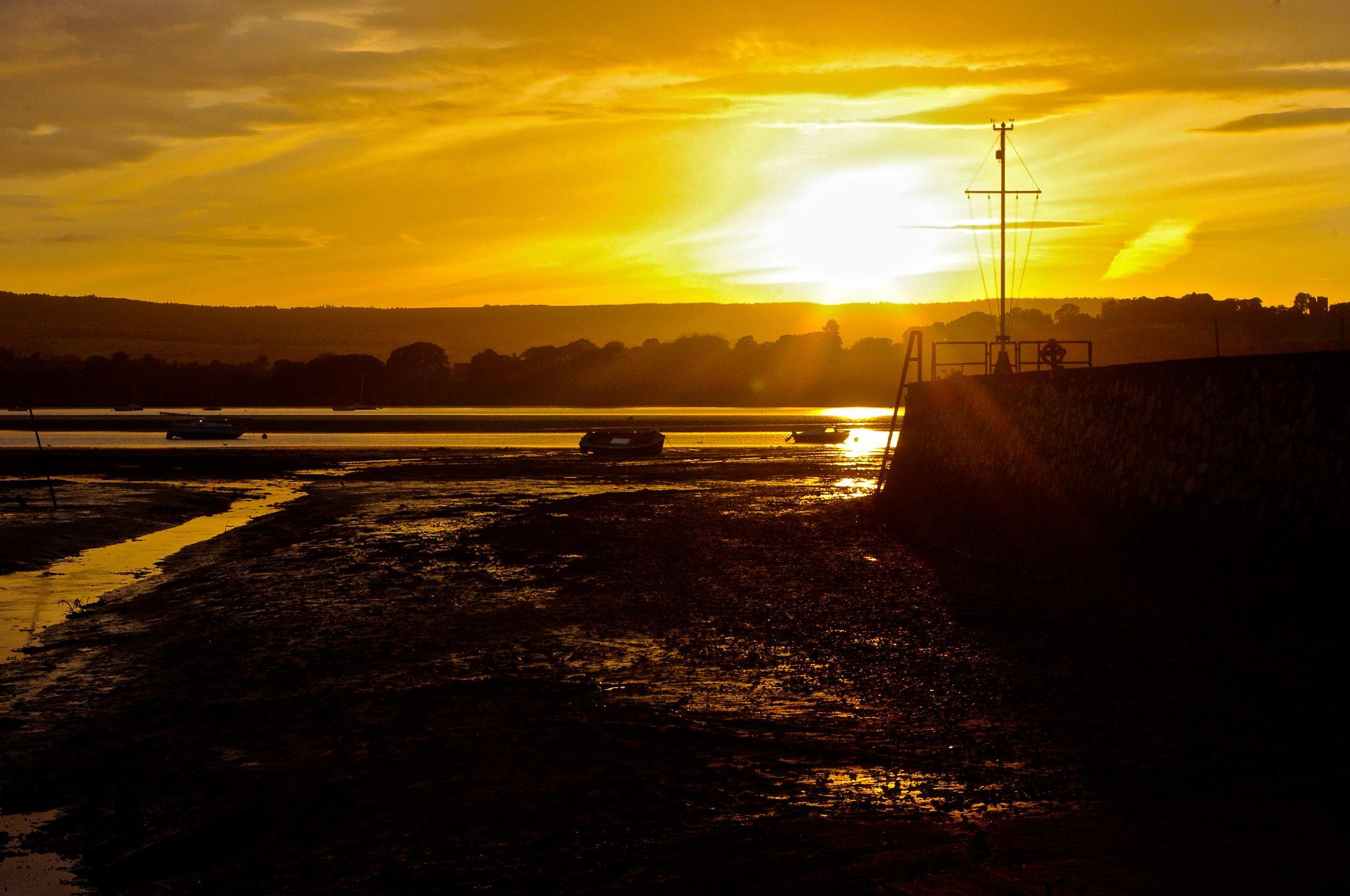 lympstone sunset by tom salt