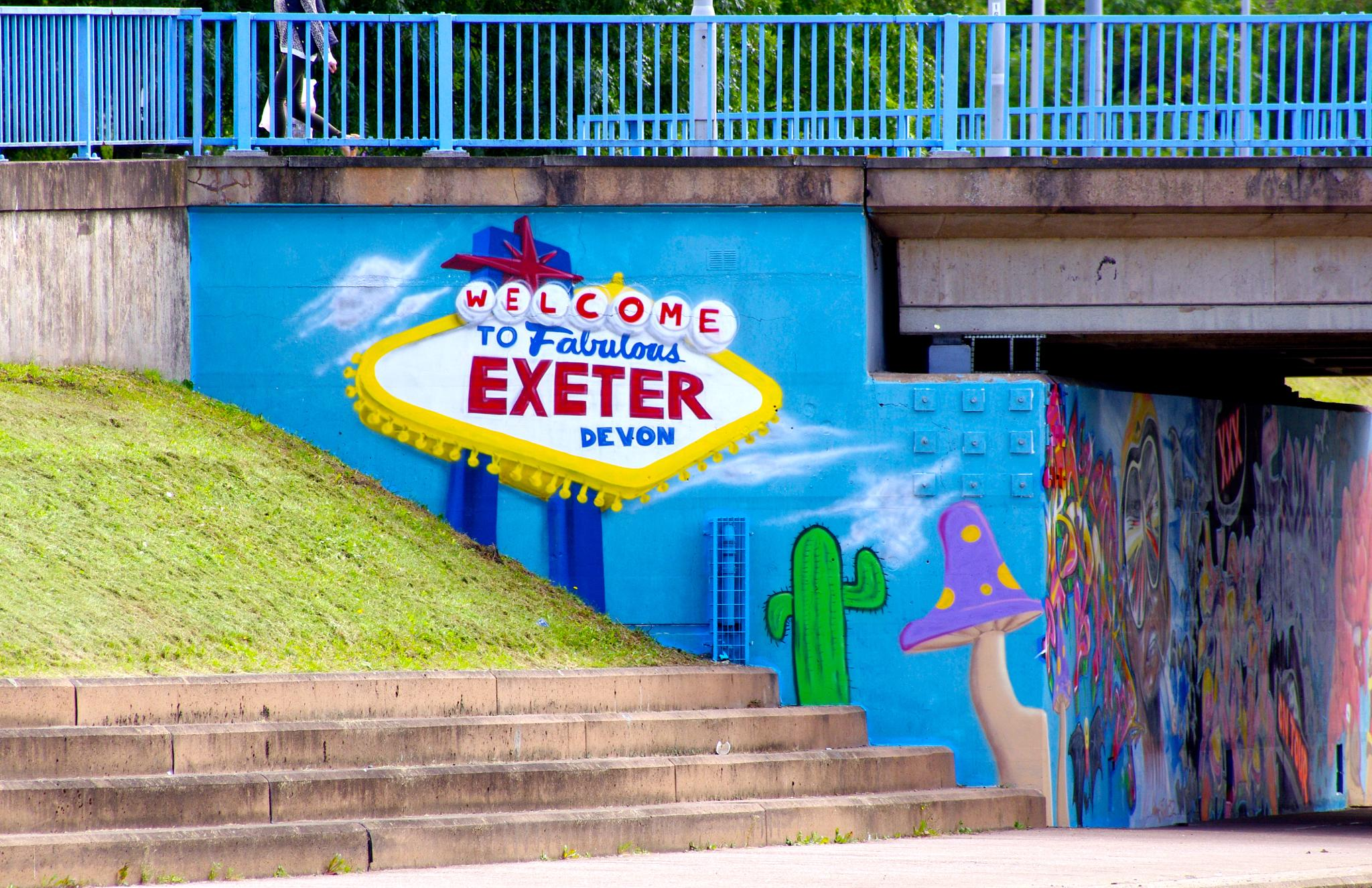 welcom to exeter  by tom salt