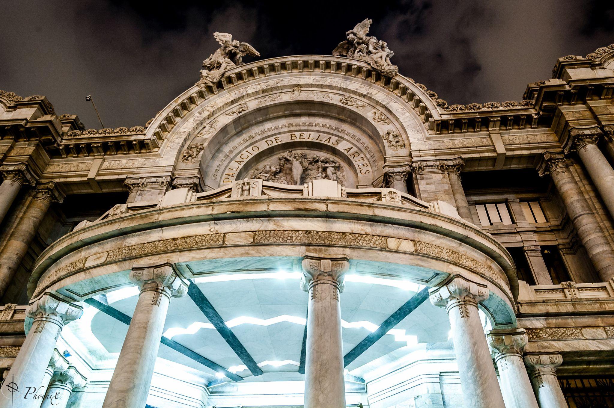 Palacio de Bellas Artes Main Entrance Detail by Phoenix