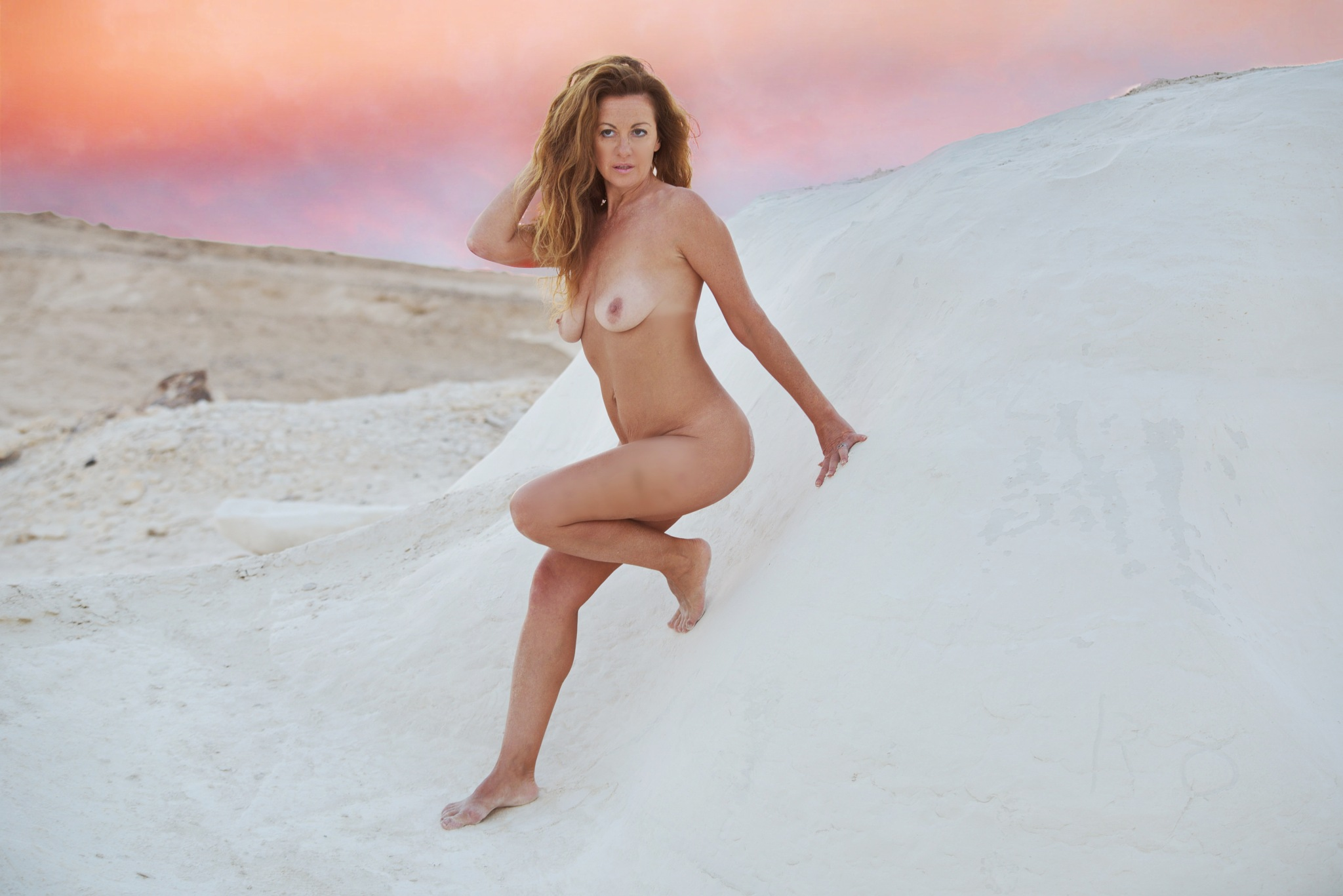 Sunset in the desert by Moti fine art nude photography