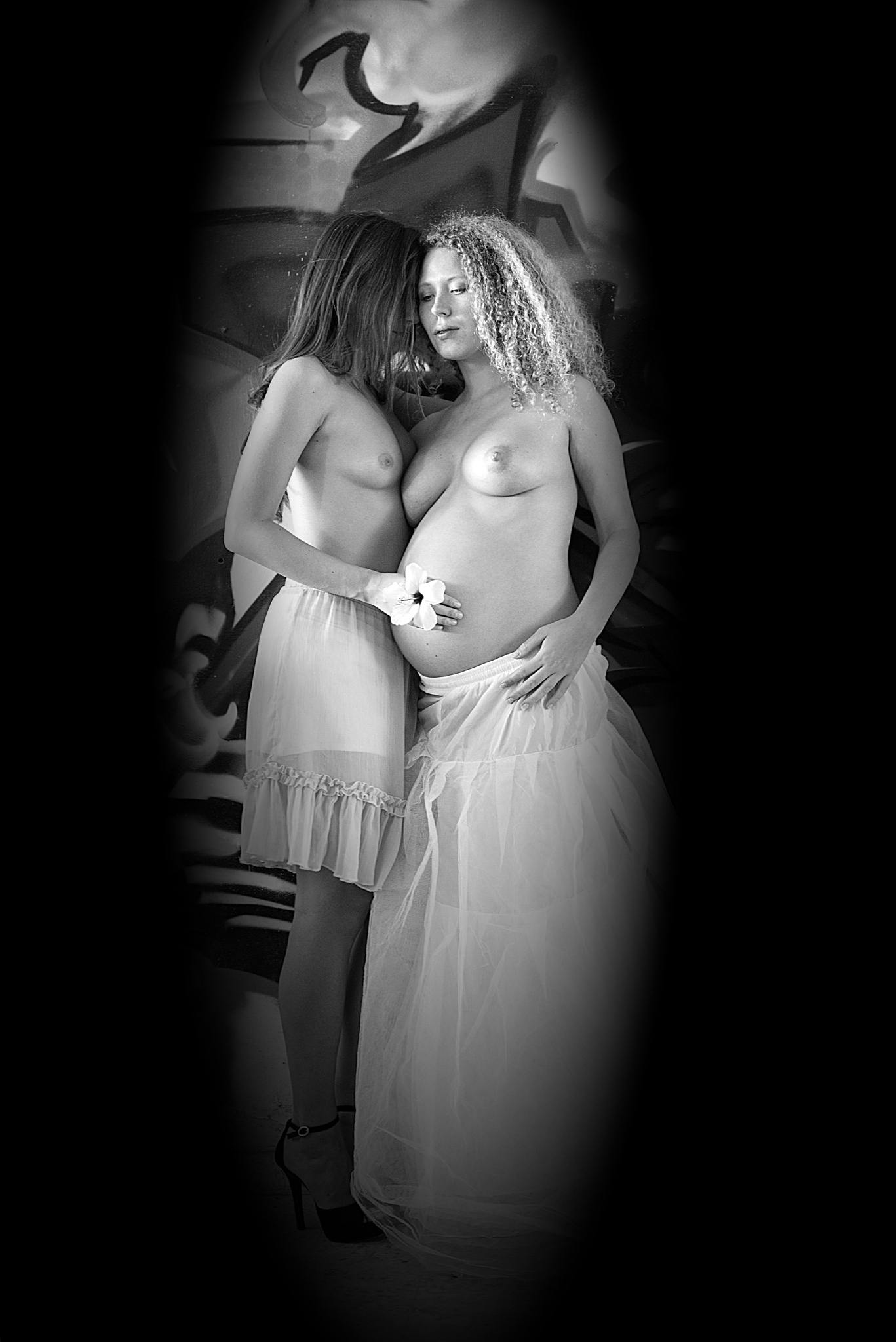 Me and she by Moti fine art nude photography