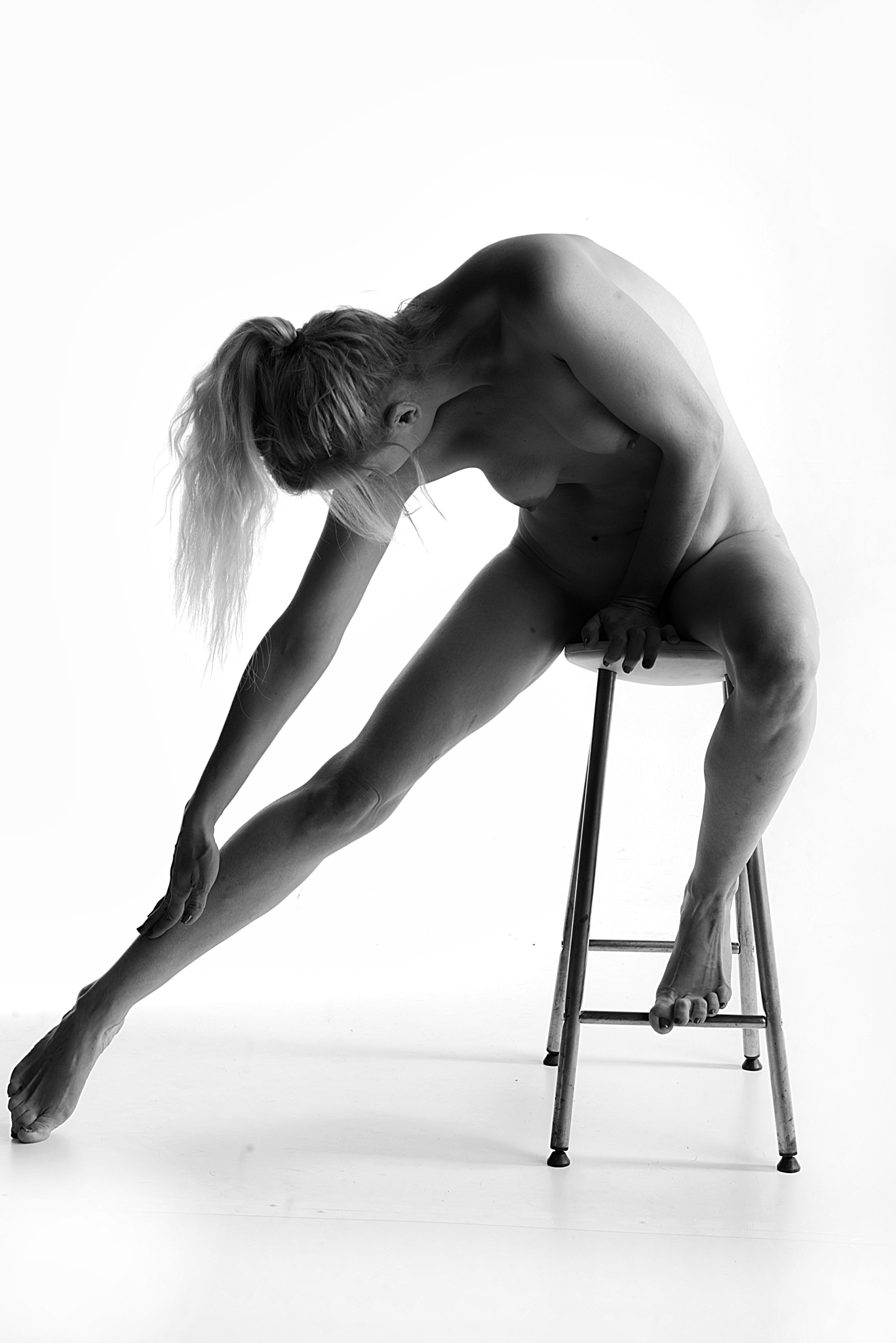 I and my seat by Moti fine art nude photography