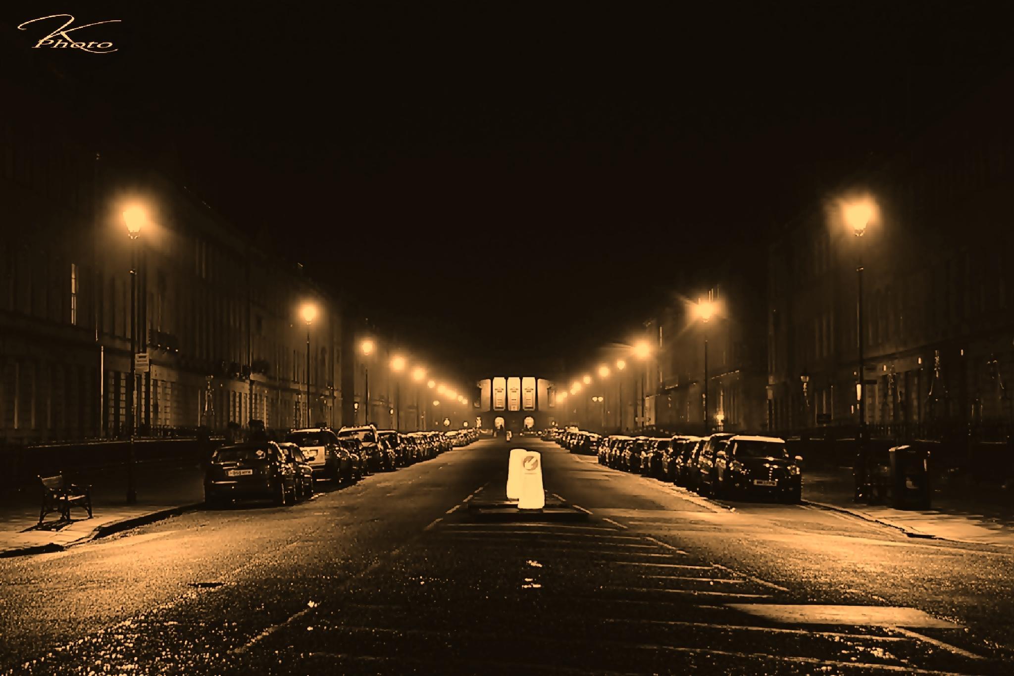 street at night by Kamil Gaweł
