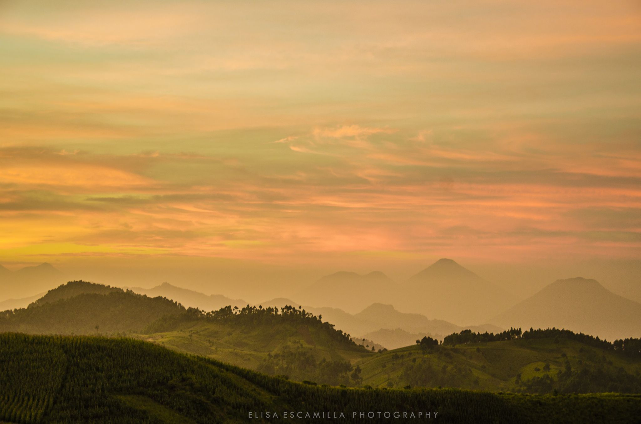 Volcanos and mountains in Guatemala by Elisa Escamilla photography