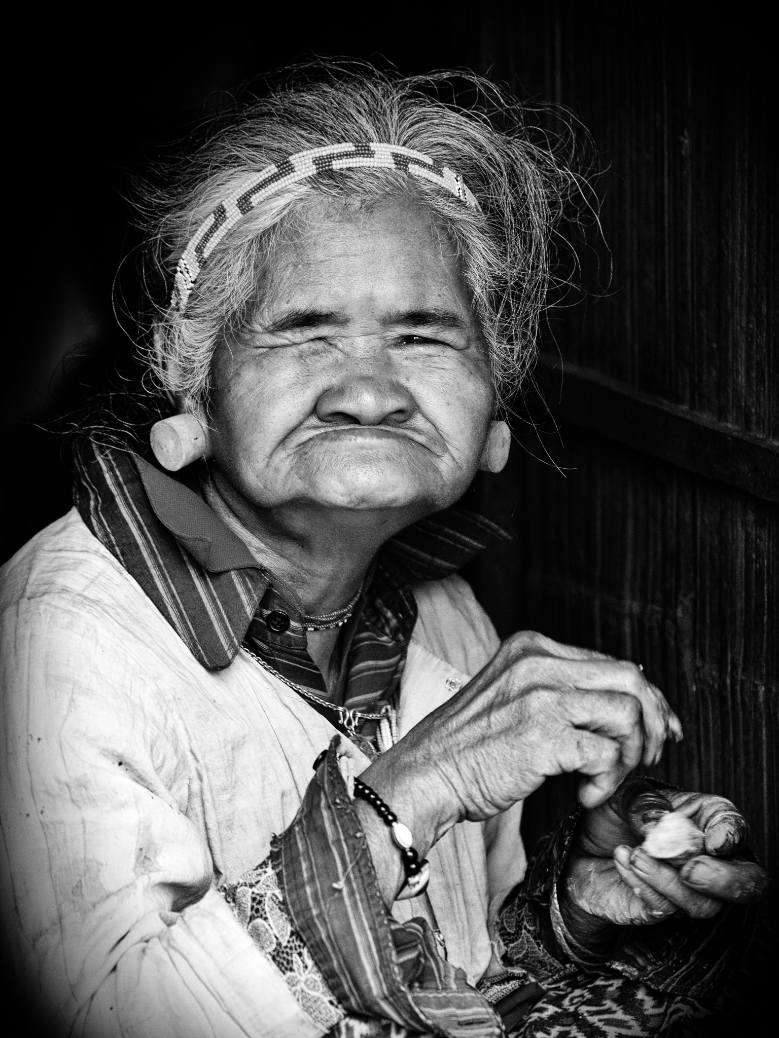 Old Cambodian Woman by Stilfoto