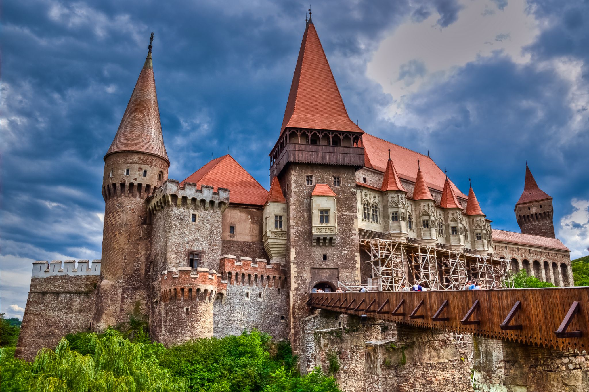 Hunyad Castle by Eduard Andrica