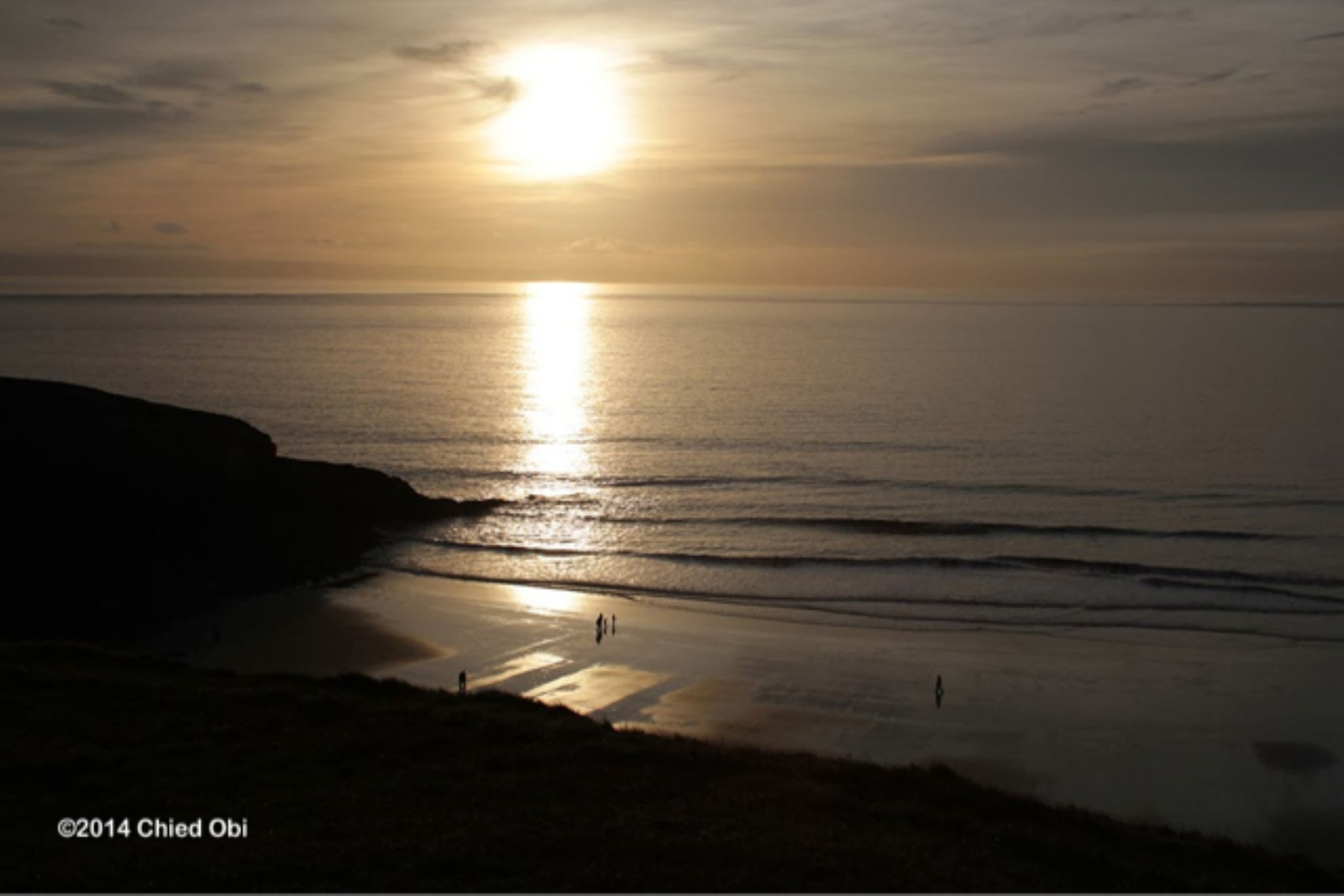 Ogmore on sea sunset by focalfocus
