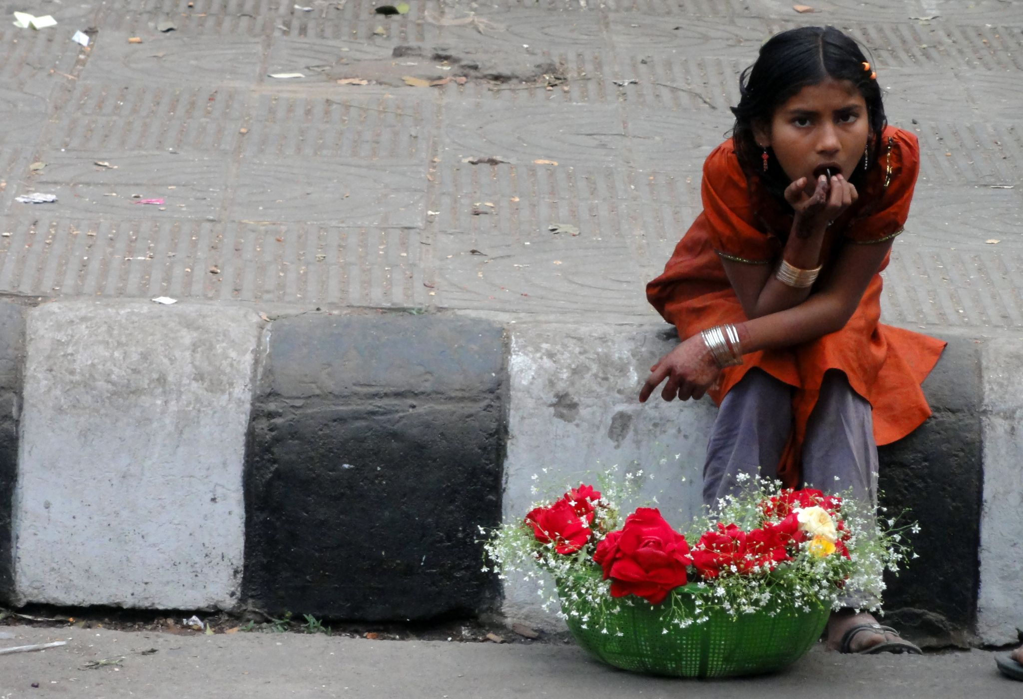 The Girl with Flowers by Shafiqul Islam Shiplu Photography