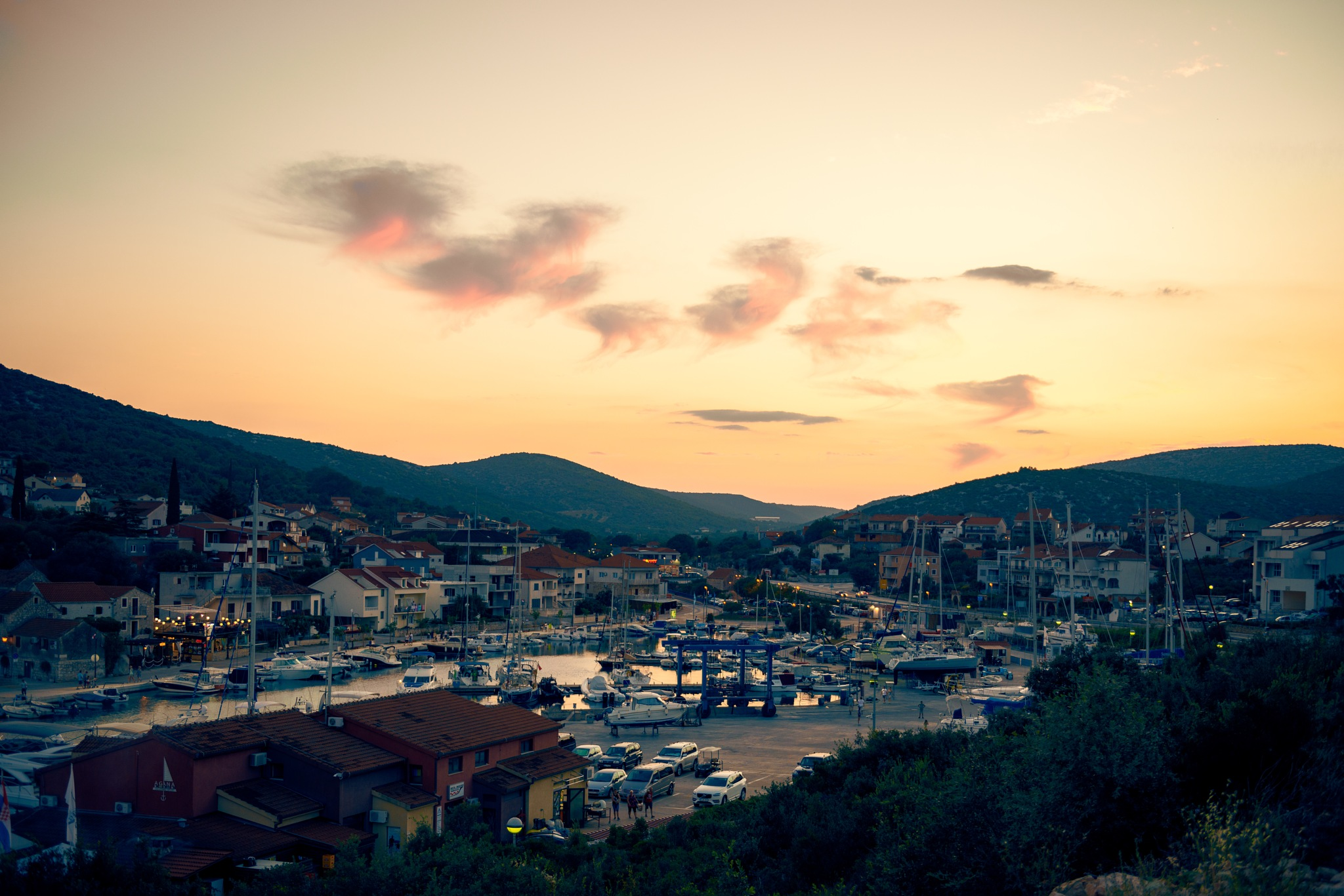 Evening shot of small village in Croatia by wow-hunter