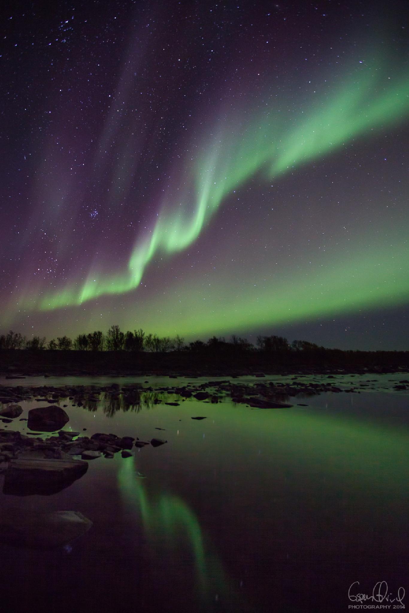 Northernlights across Bastinjohka by Espen Ørud