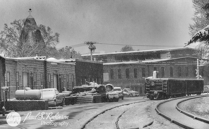 New Snow on Old Mill by psrstudio
