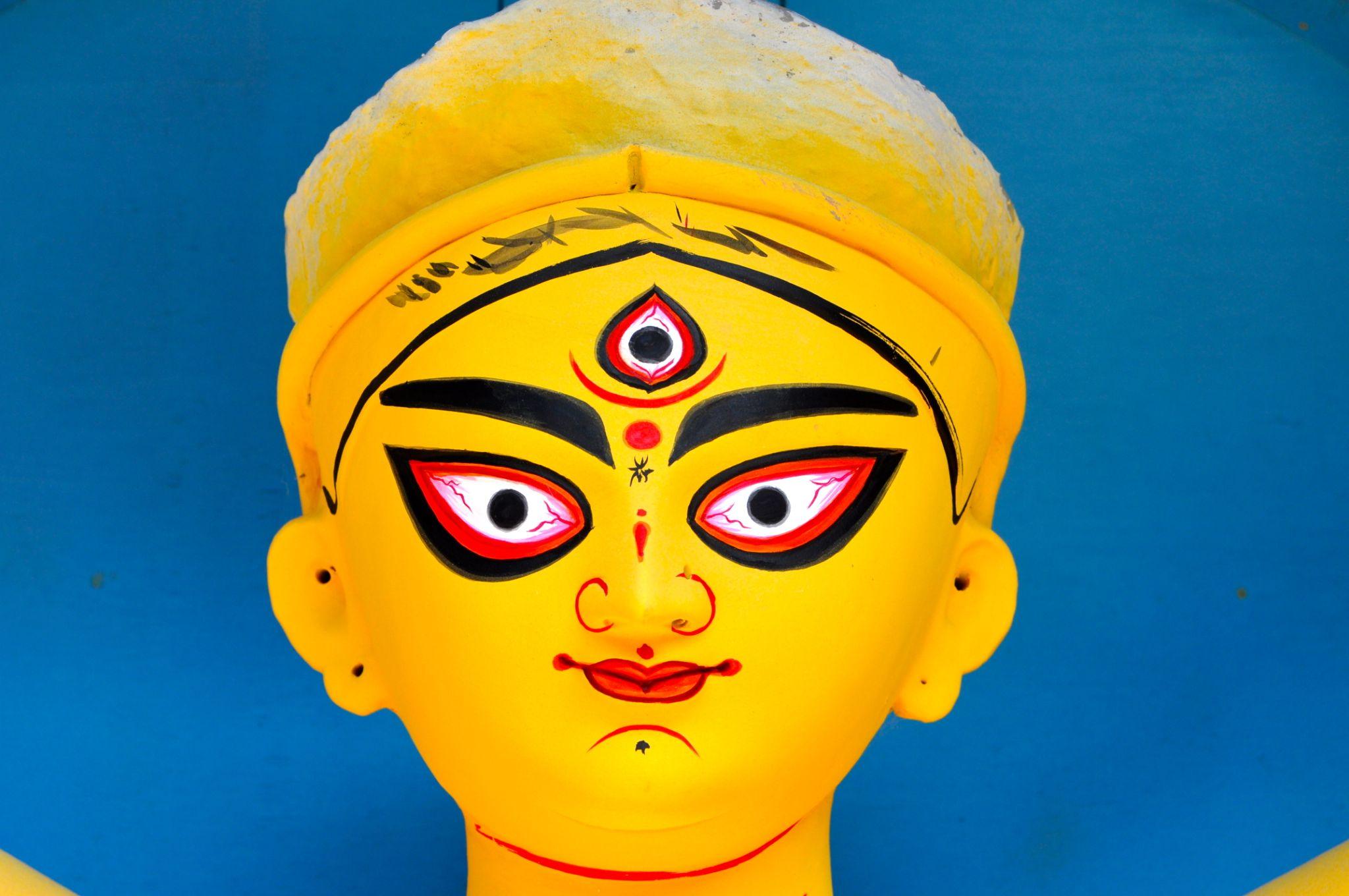 Durga idol, Kumortuli, Kolkata by Chiranjib Mazumdar