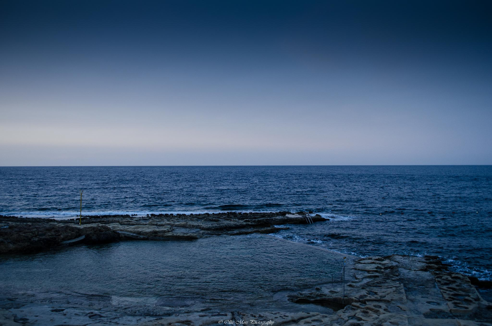 Over looking the sea in malta by Ollie Moss Photography