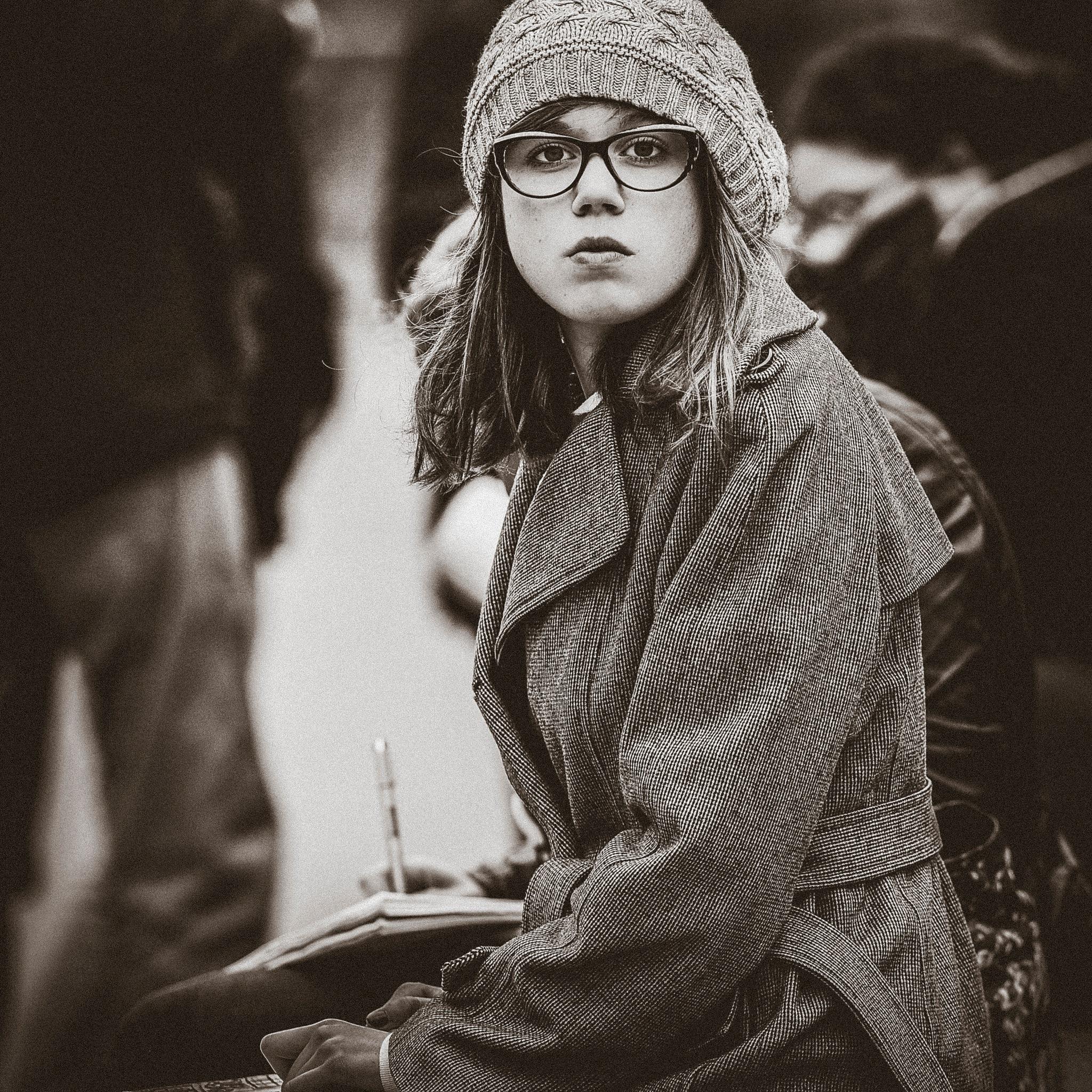 L'étudiante by La rue photographiée