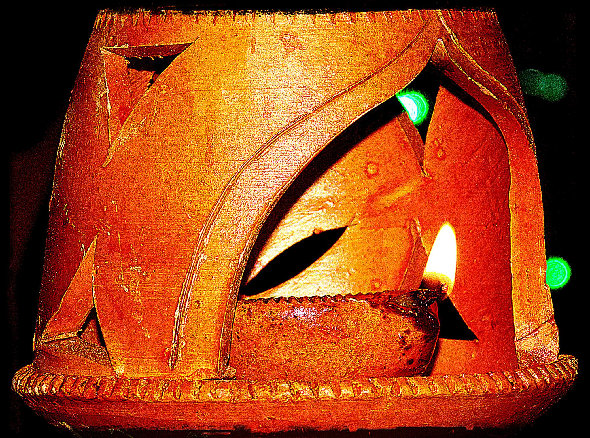 Earthen Lamp by Rana Sarkar