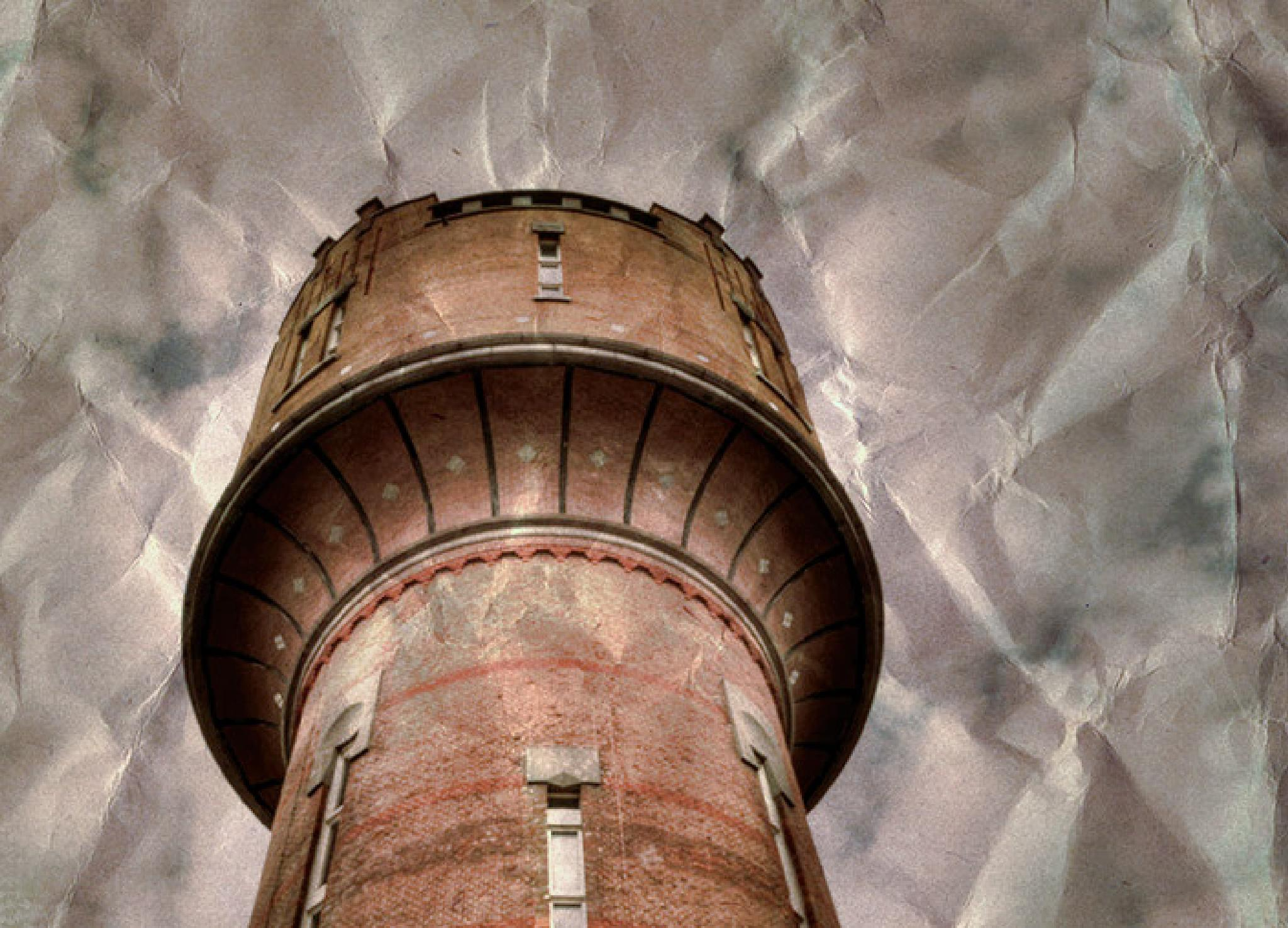 Watertower on paper by damian1997dj