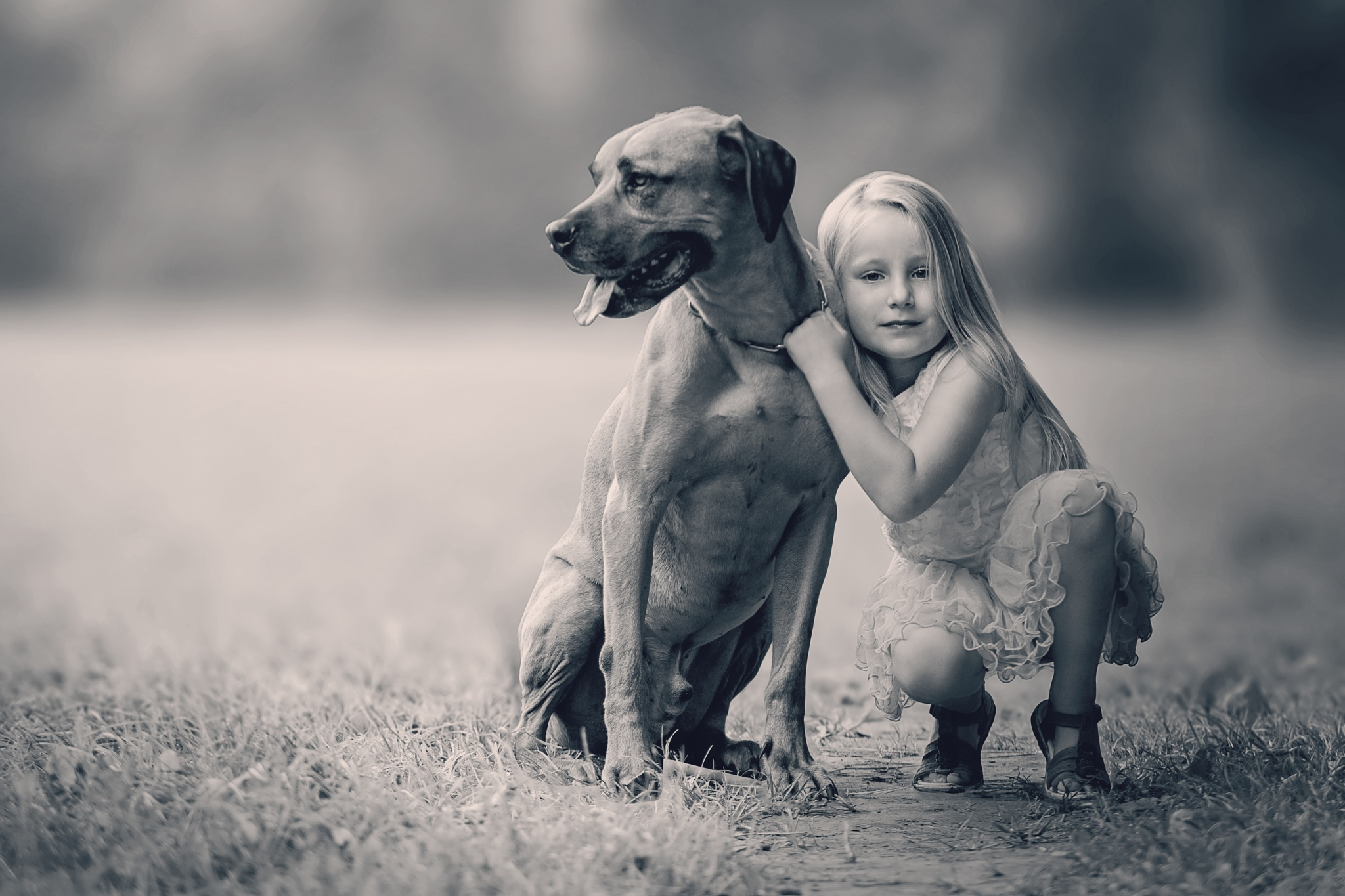 Girl and her best friend by zdenka.photo