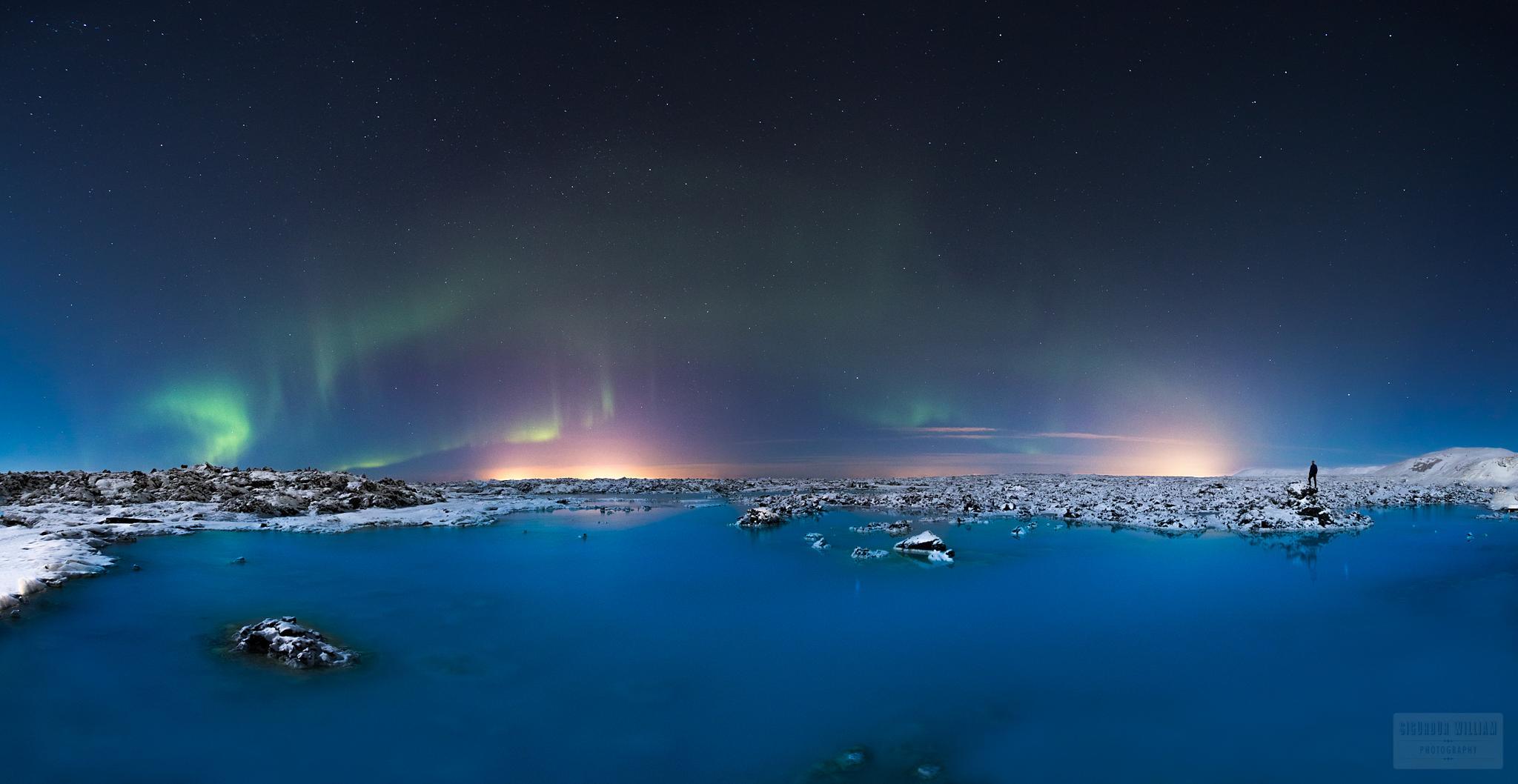 Pro selfie at the Blue Lagoon by Sigurdur William Brynjarsson