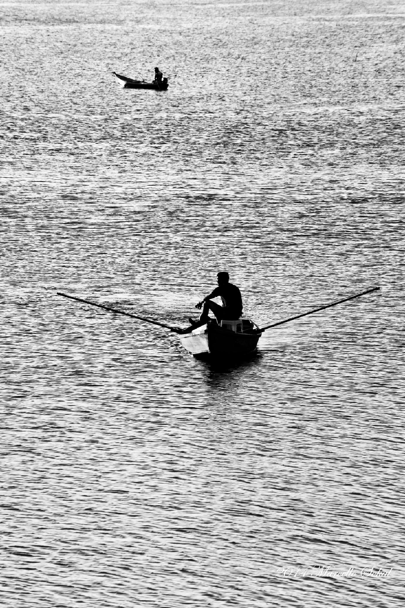 Fishing at the evening   by marcello.sokal