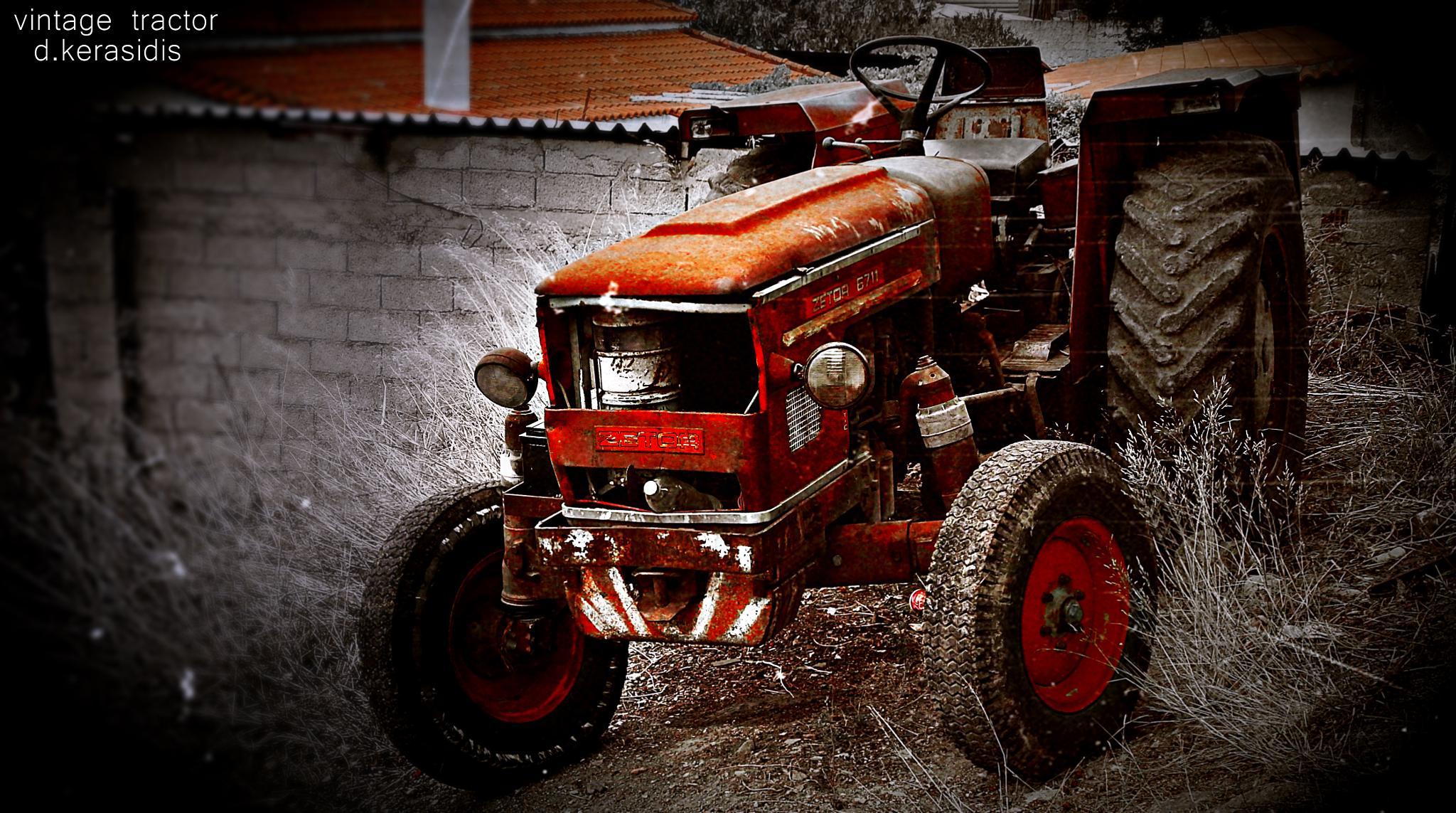 Vintage Tractor from Akrefnio Viotia Greece by kerasidis.dimitris