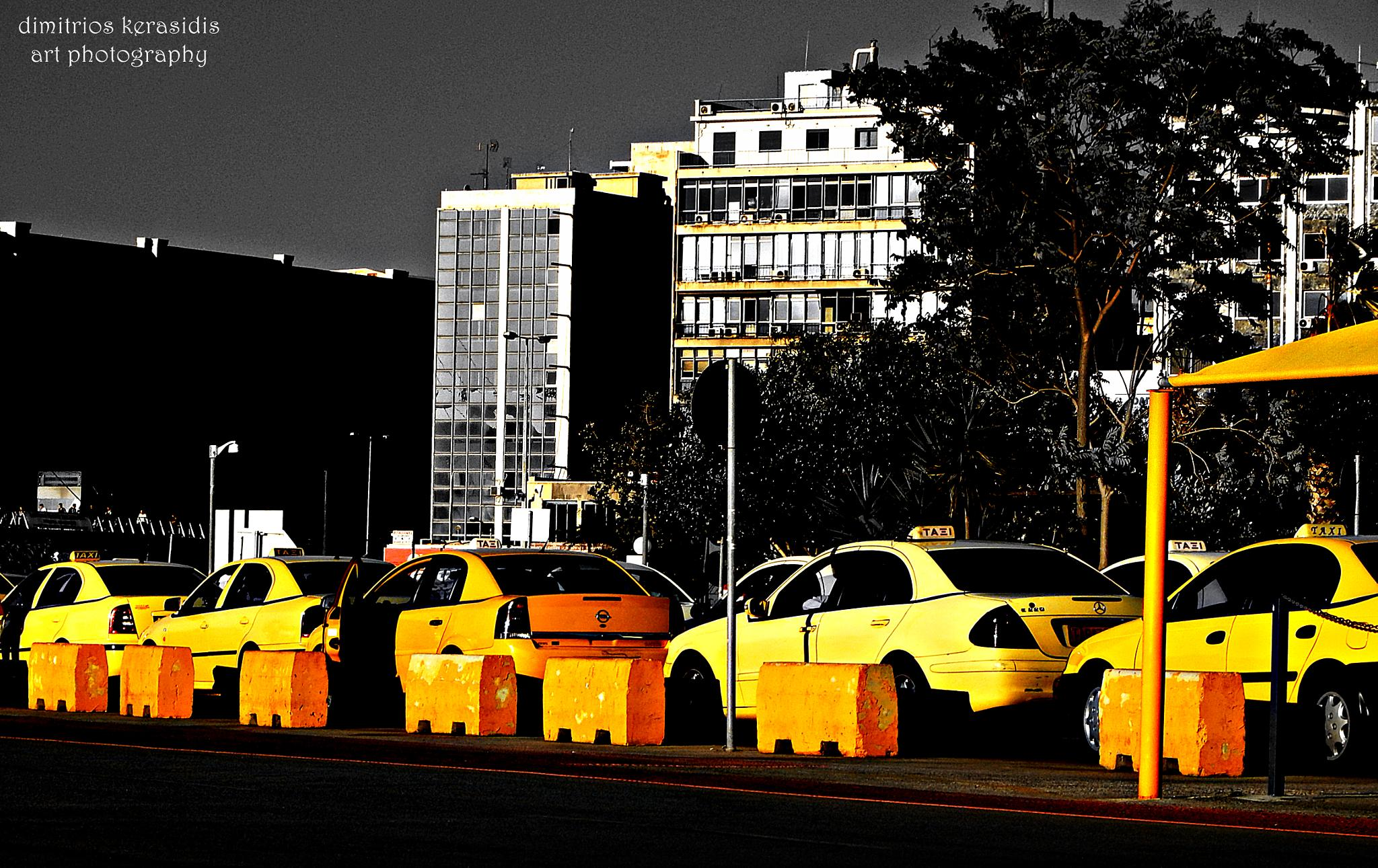 Taxi station in Piraeus central Port - Greece  by kerasidis.dimitris